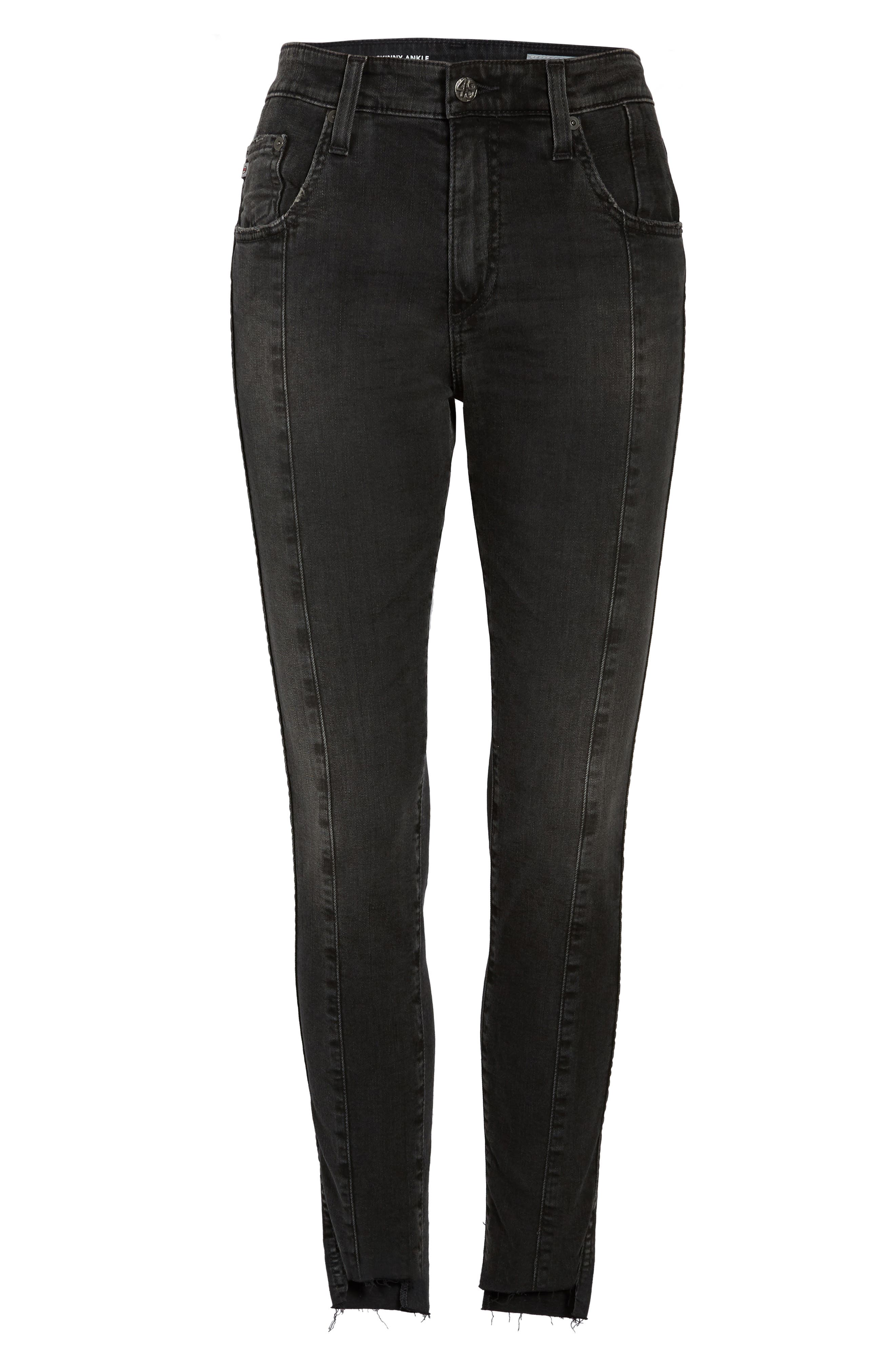 Alternate Image 7  - AG The Farrah High Waist Ankle Skinny Jeans (Thirteen)