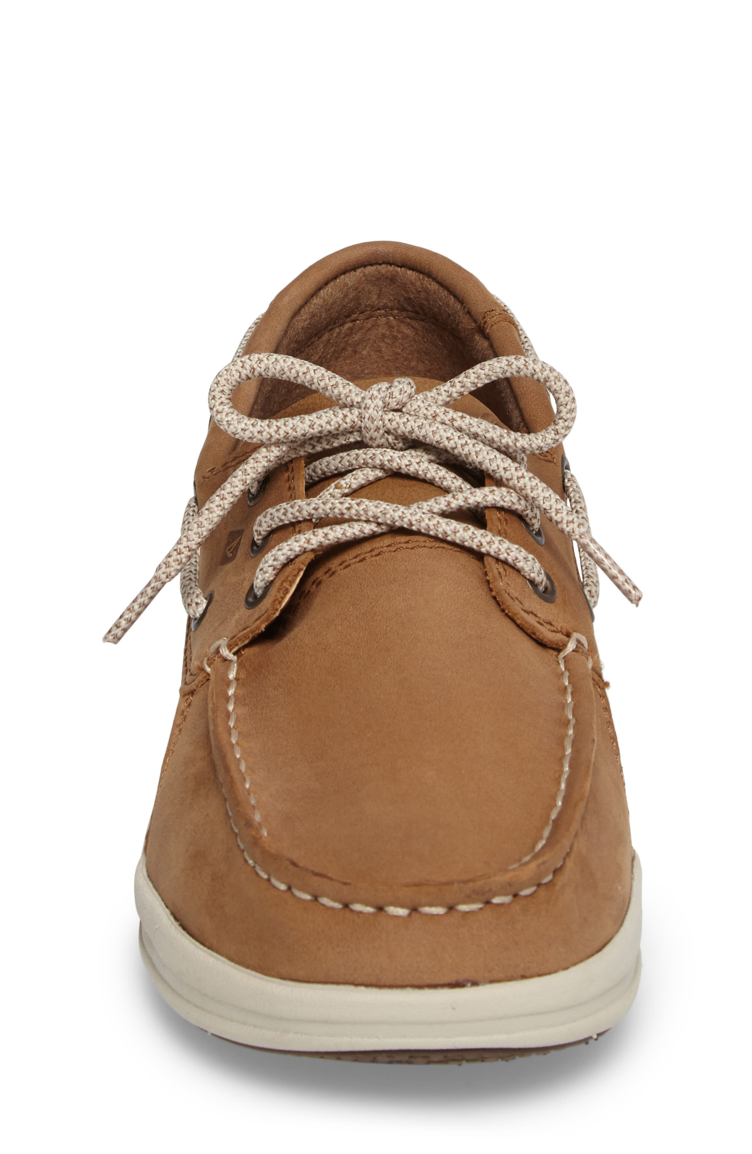 Sperry Gamefish Boat Shoe,                             Alternate thumbnail 4, color,                             Dark Tan