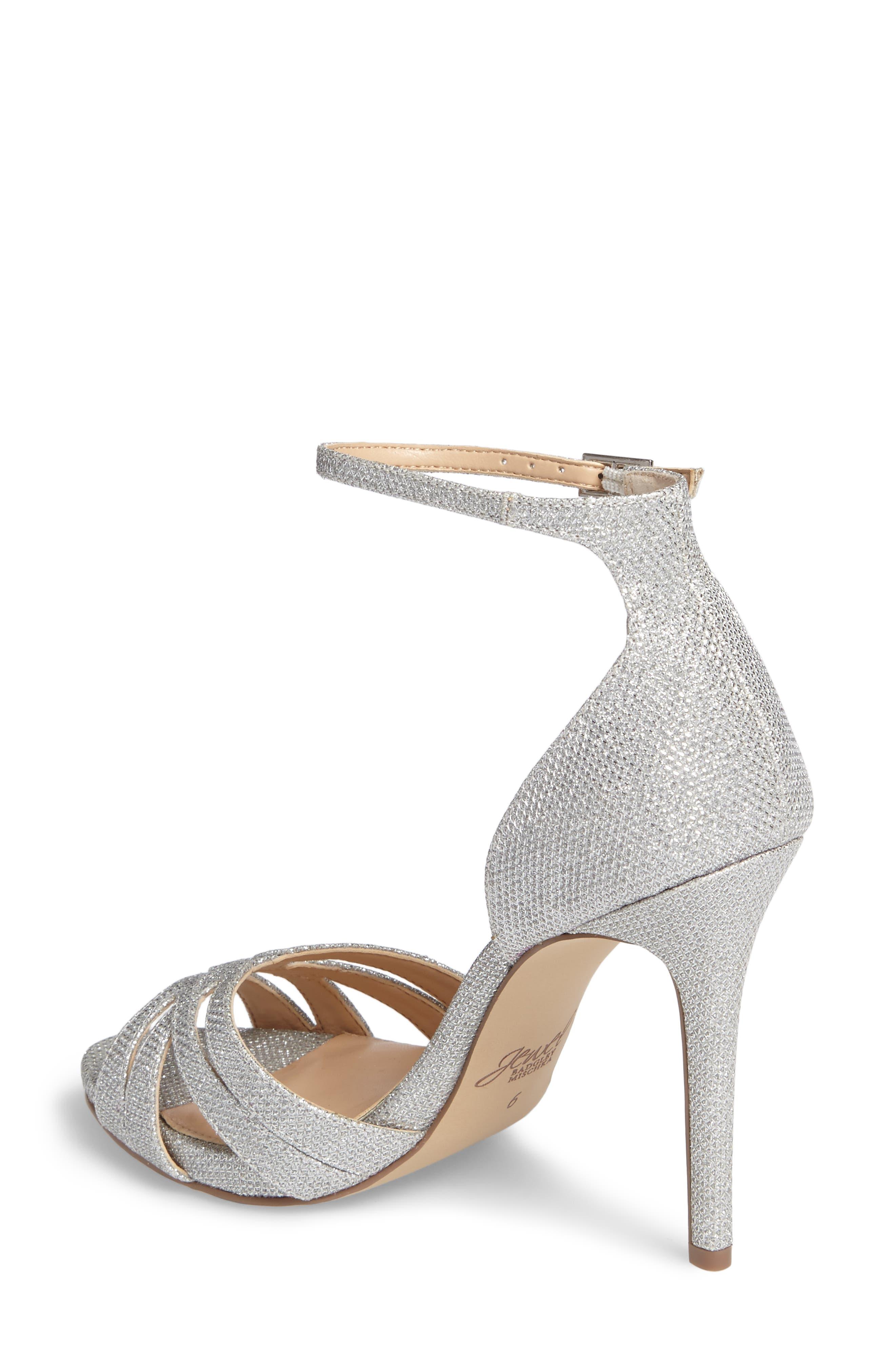 Alternate Image 2  - Jewel Badgley Mischka Loyal Glitter Sandal (Women)