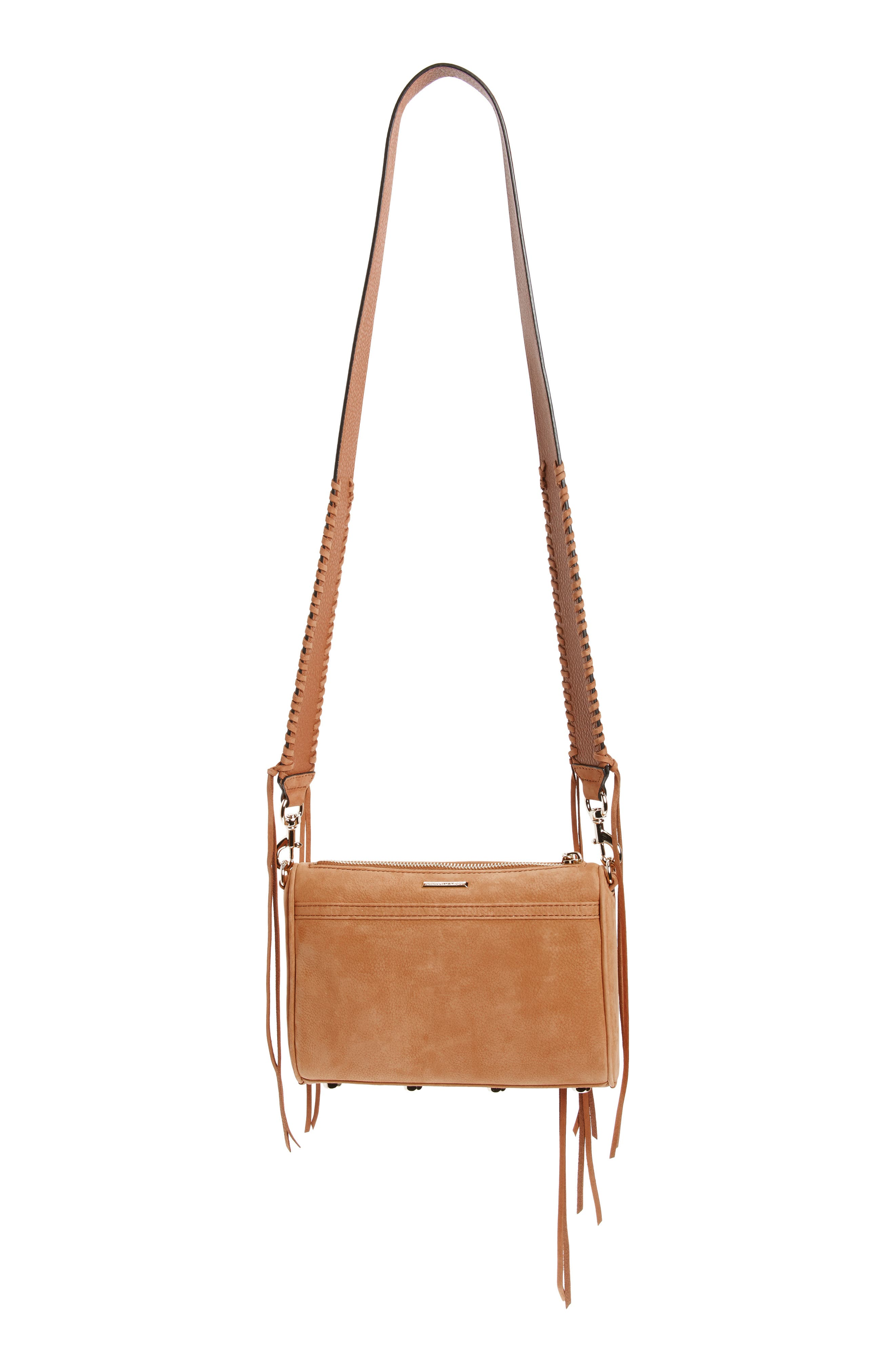Mini MAC Convertible Crossbody Bag,                             Alternate thumbnail 3, color,                             Almond