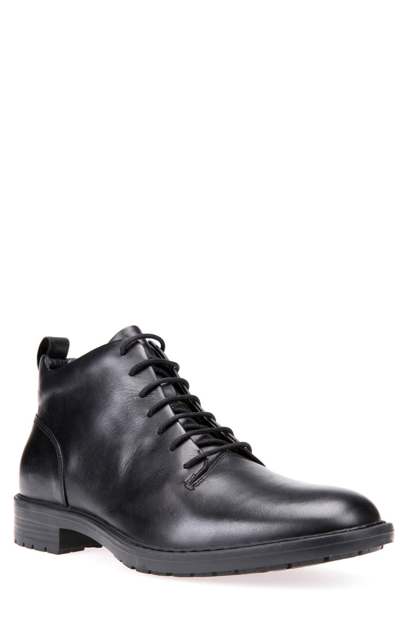 Geox Kapsian Plain Toe Boot (Men)