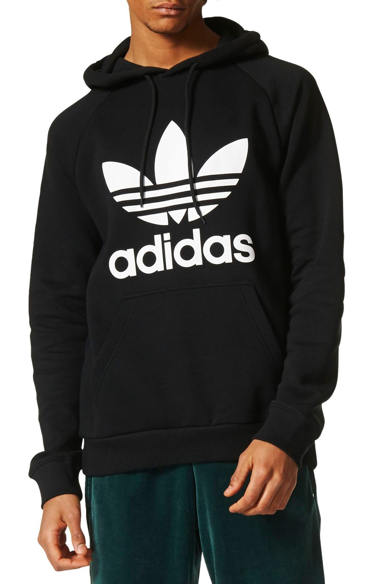 Main Image - adidas Originals Trefoil Graphic Hoodie