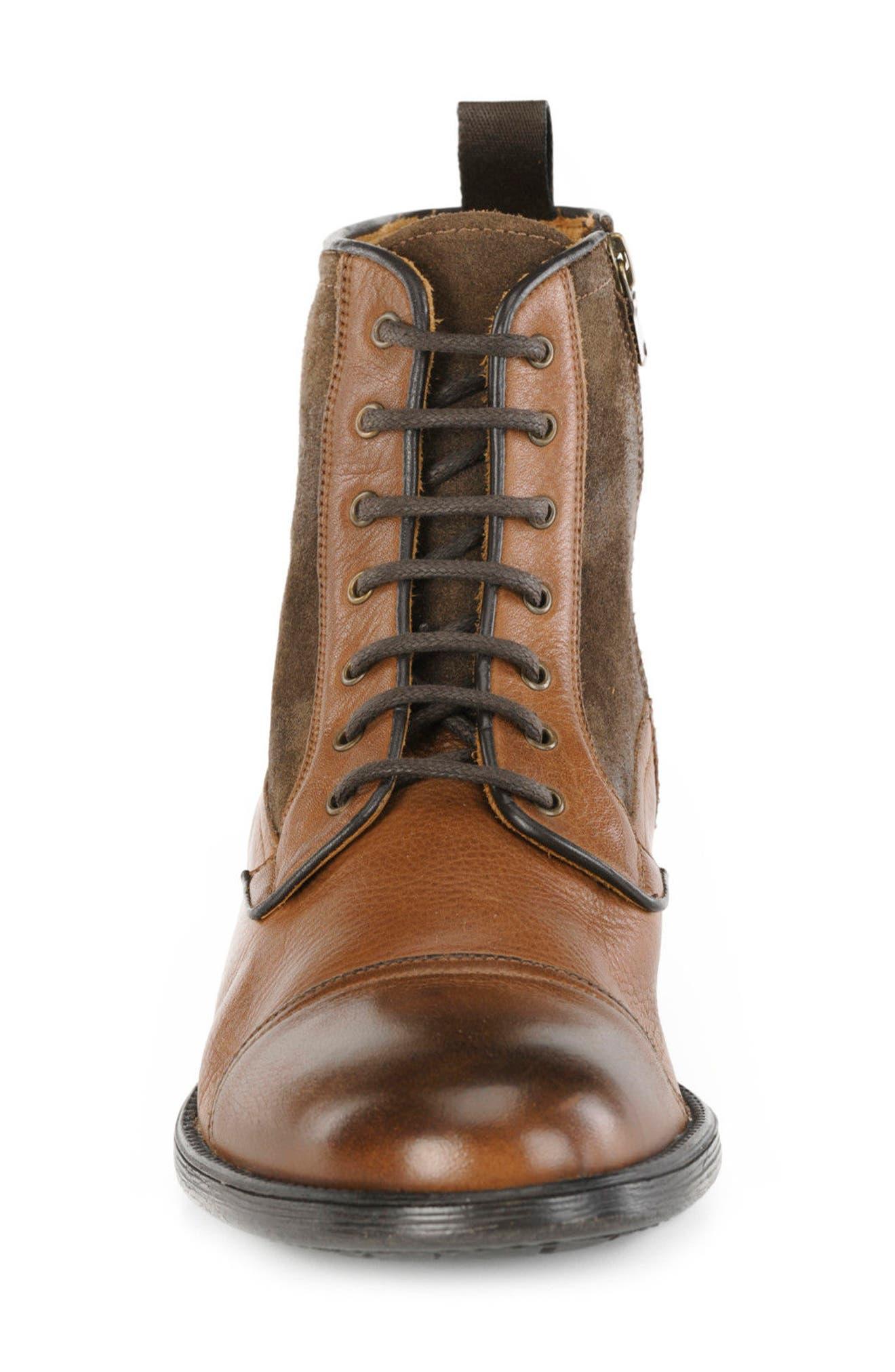 Jaylon 12 Cap-Toe Boot,                             Alternate thumbnail 4, color,                             Ebony