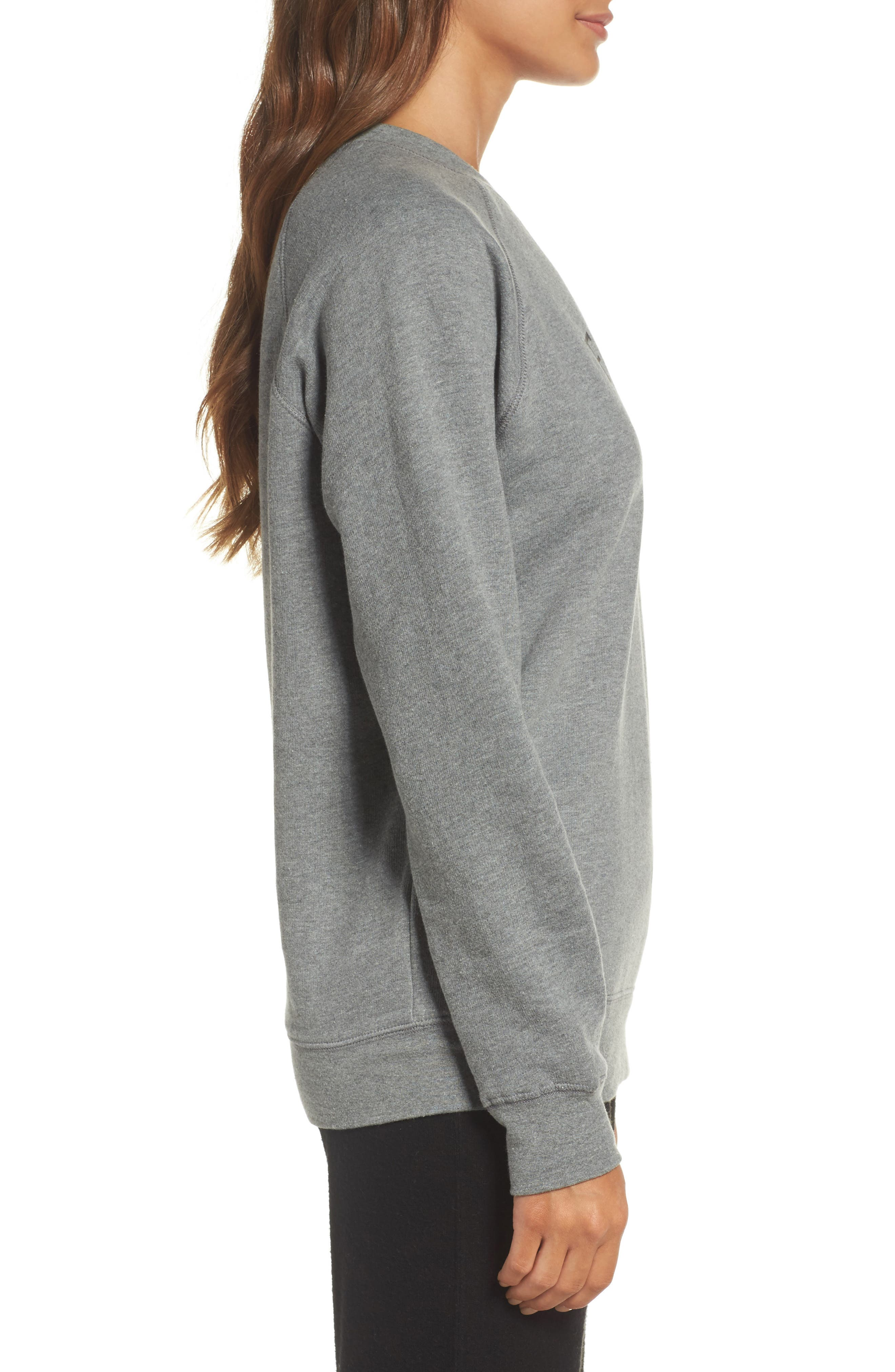 Fries Before Guys Sweatshirt,                             Alternate thumbnail 3, color,                             Grey