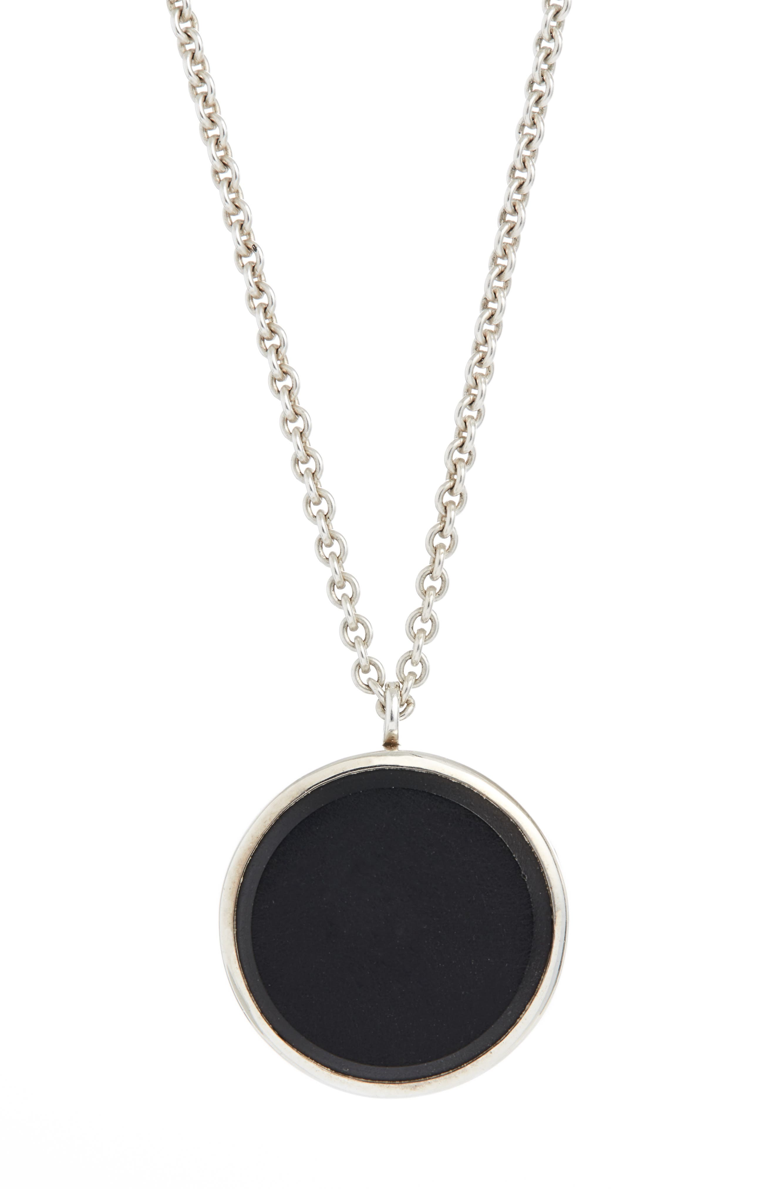 Tom Wood Black Onyx Medallion Necklace