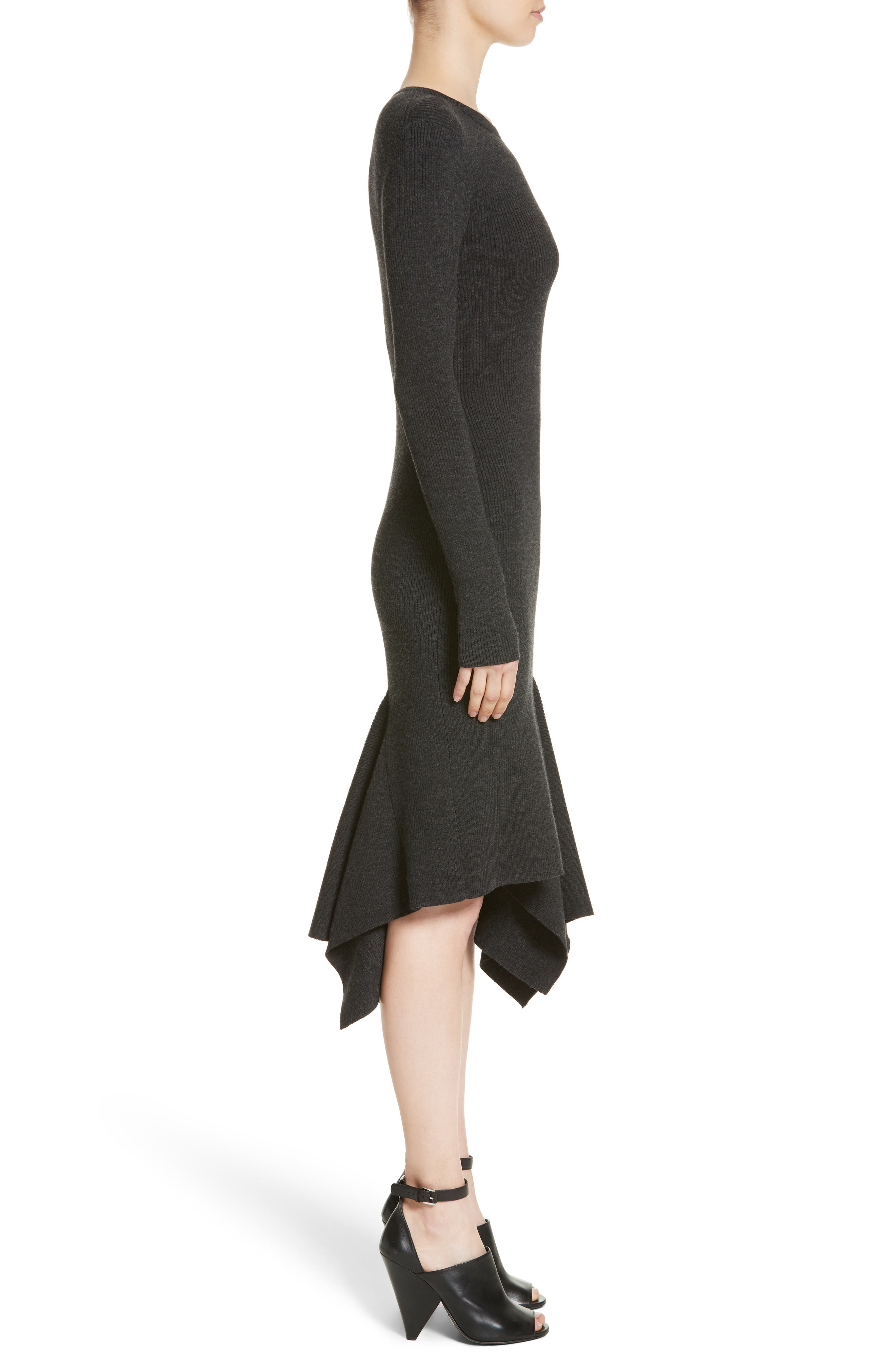 Alternate Image 3  - Michael Kors Merino Wool Blend Handkerchief Hem Dress