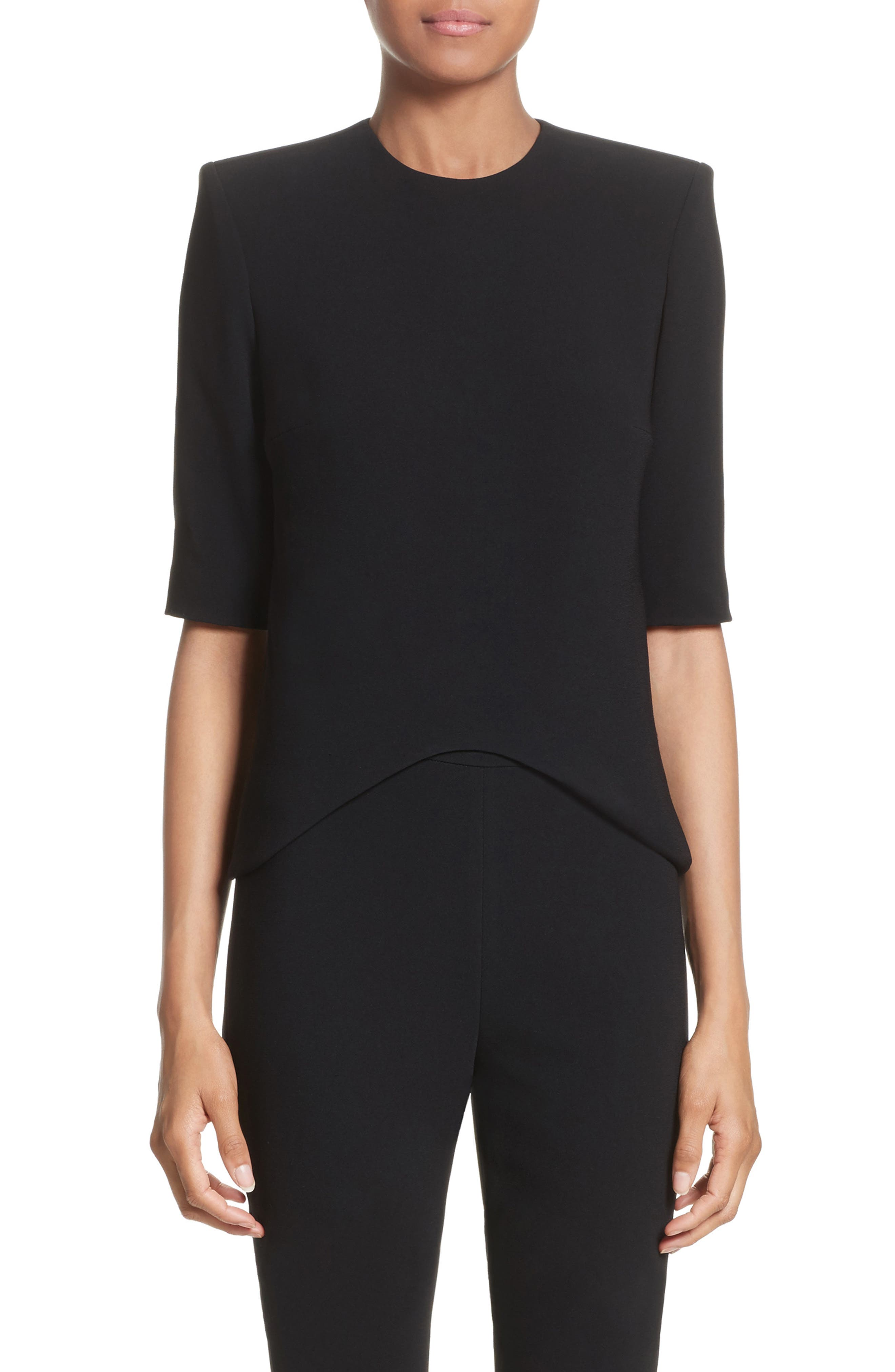 Brandon Maxwell Moon Crepe Top