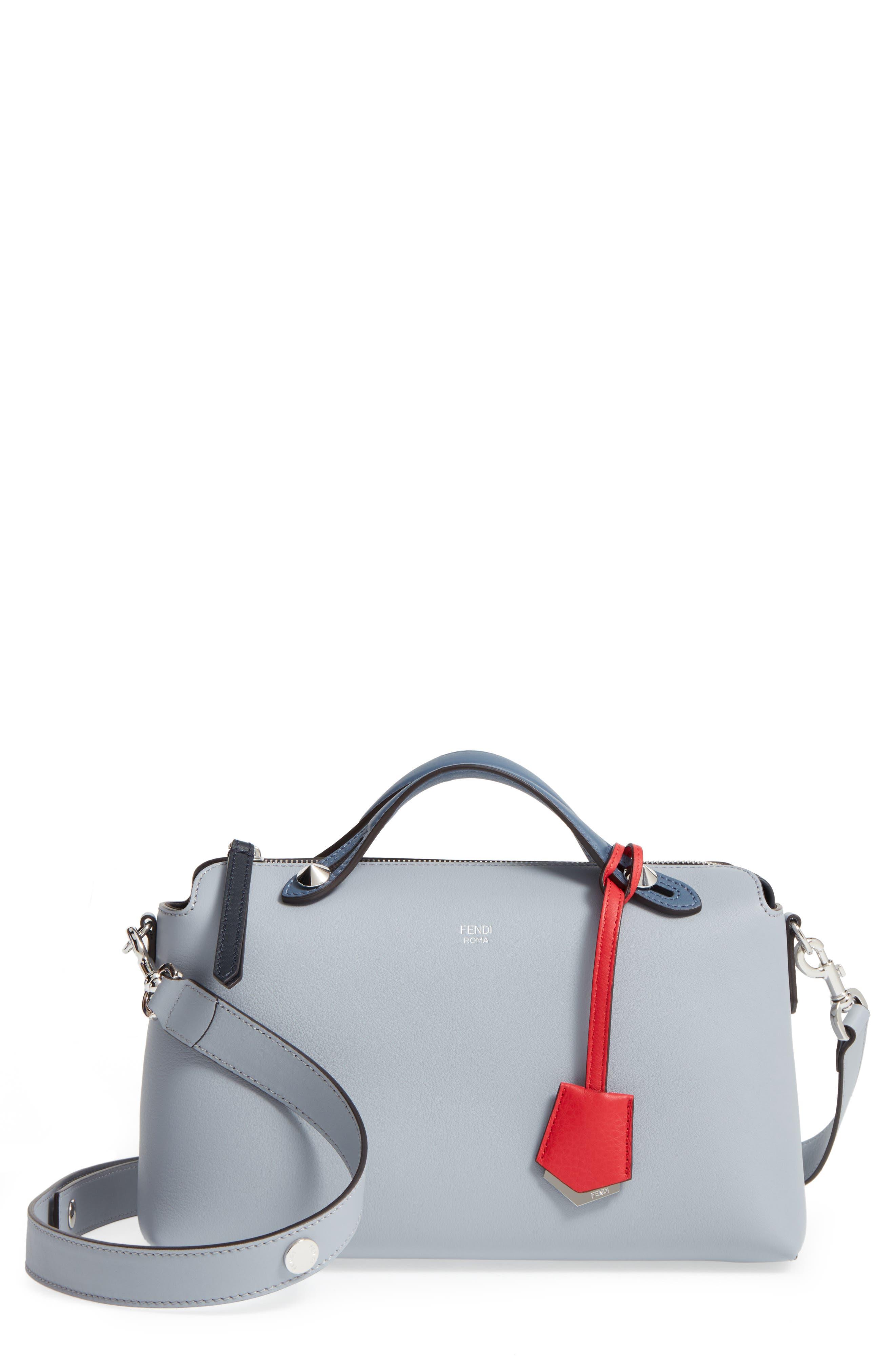 Alternate Image 1 Selected - Fendi 'Medium By the Way' Colorblock Leather Shoulder Bag