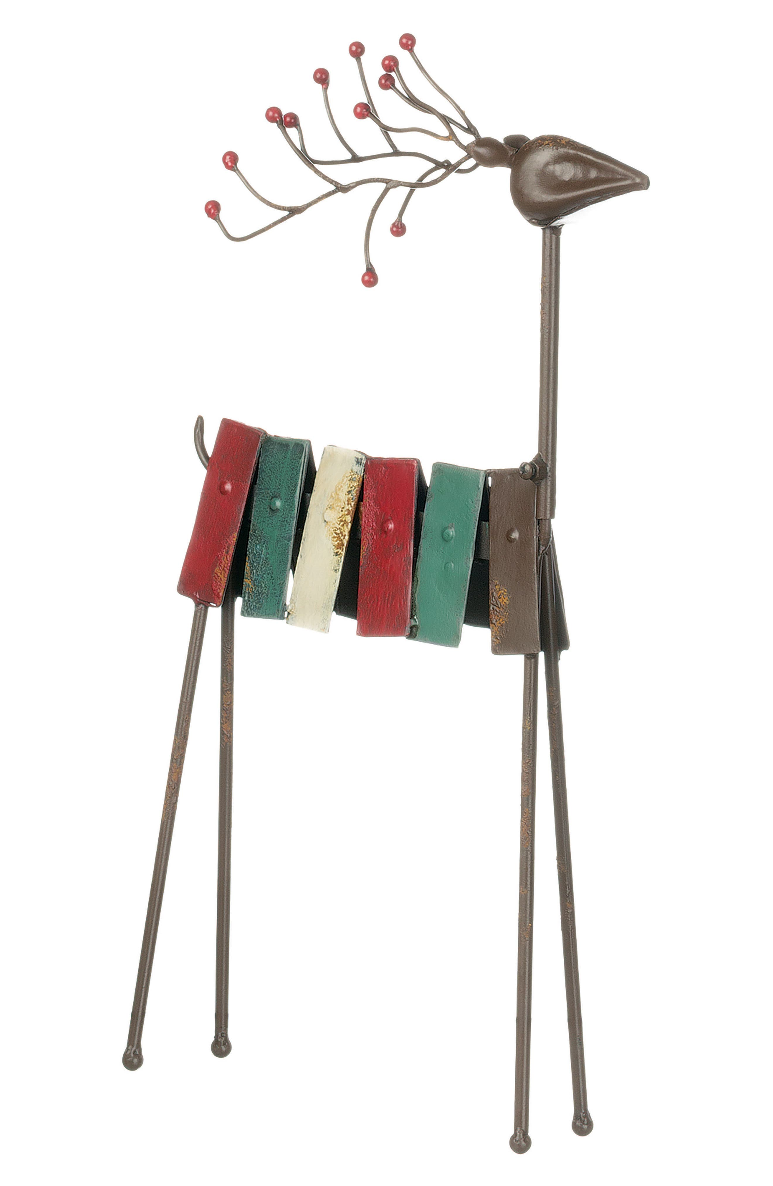 Metal Reindeer,                             Alternate thumbnail 2, color,                             Red