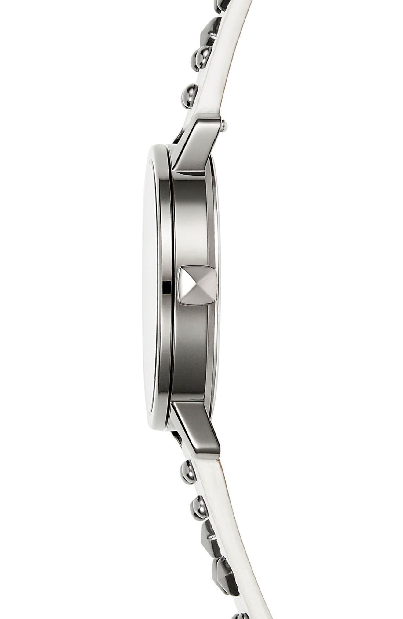 Alternate Image 3  - Rebecca Minkoff BFFL Studded Leather Strap Watch, 36mm