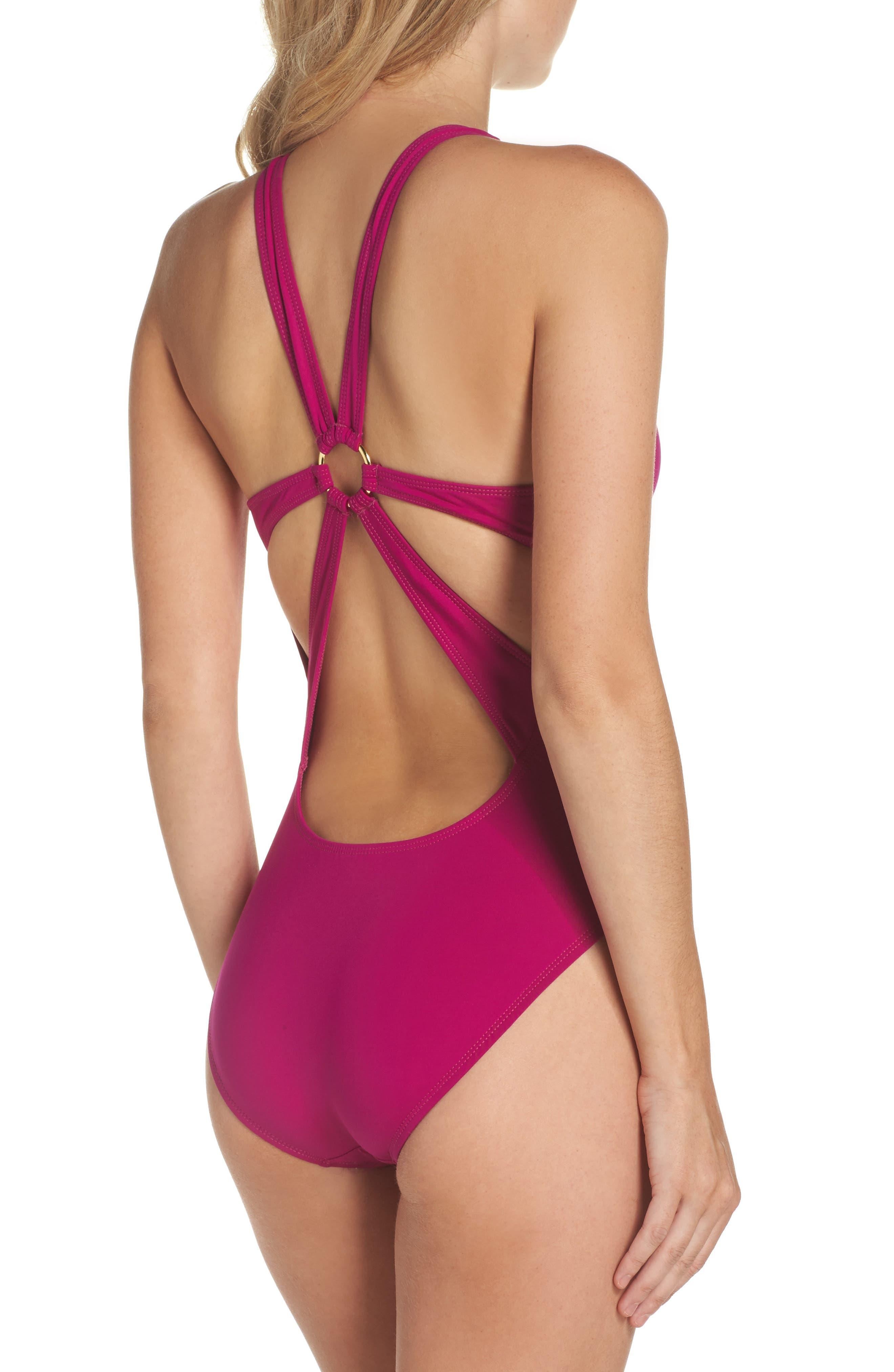 Alternate Image 2  - La Blanca Deco Studded One-Piece Swimsuit