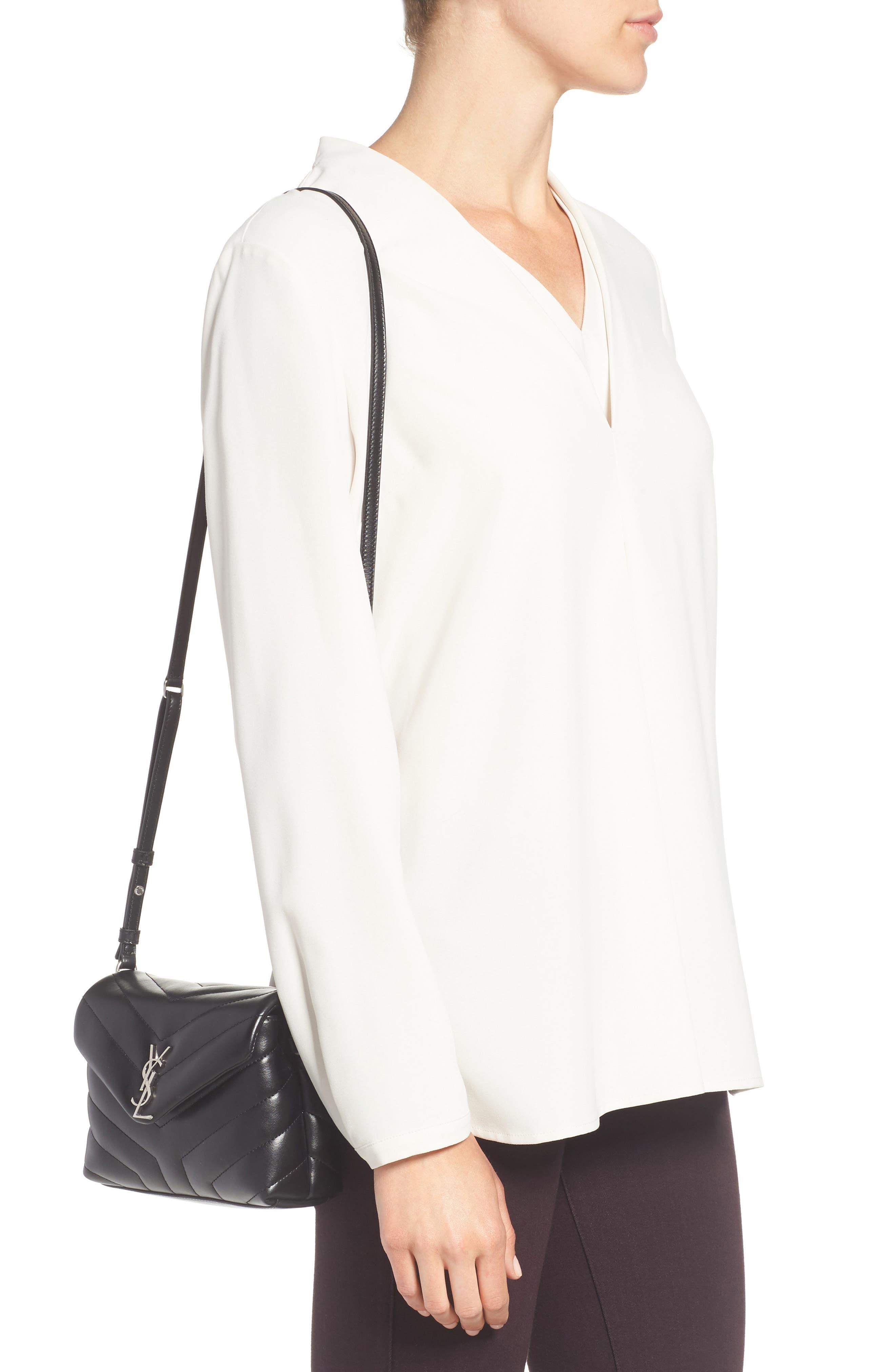 Alternate Image 2  - Saint Laurent Toy LouLou Calfskin Leather Crossbody Bag
