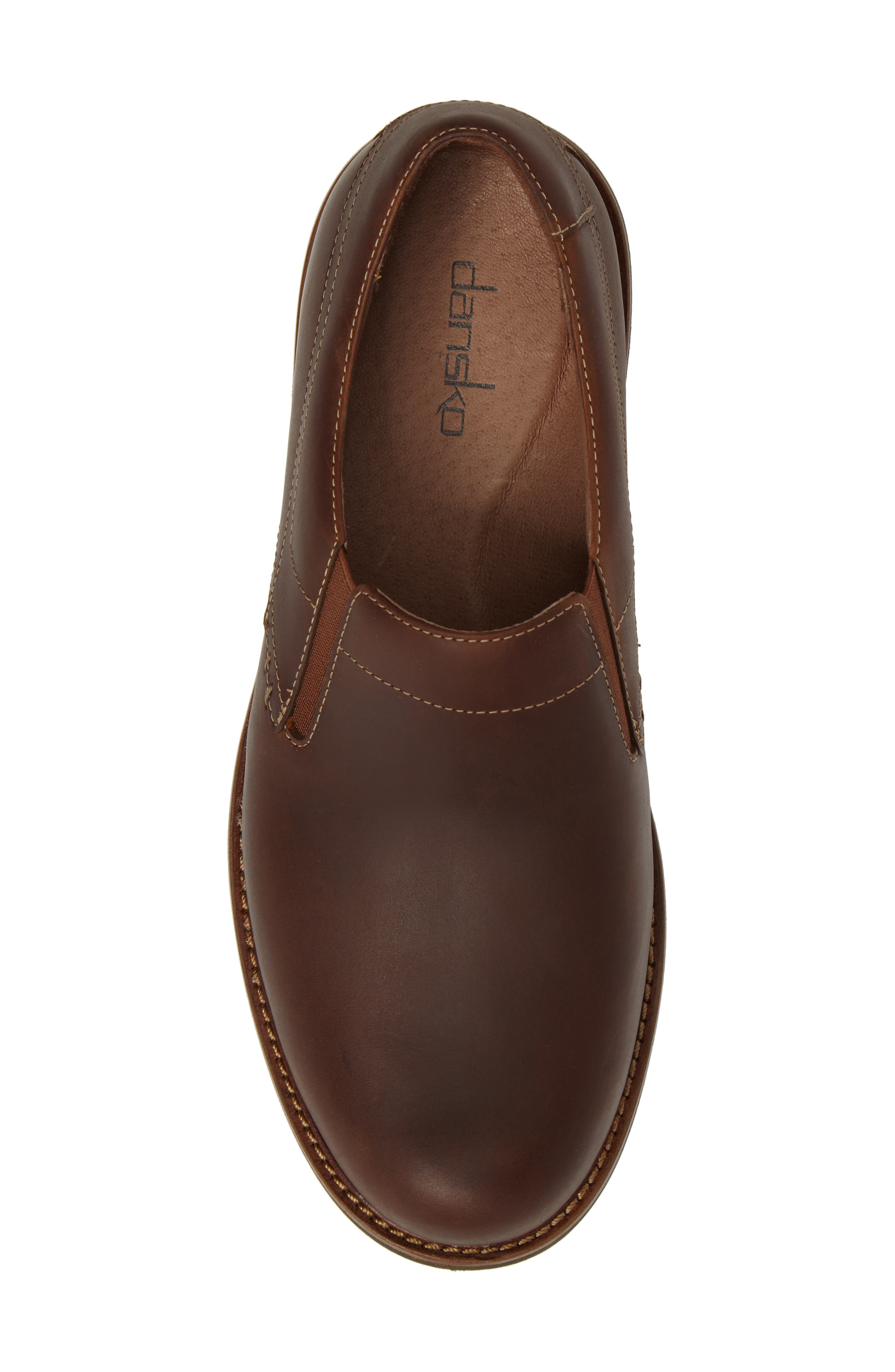 'Jackson' Leather Slip-On,                             Alternate thumbnail 3, color,                             Brown Pull-Up Leather