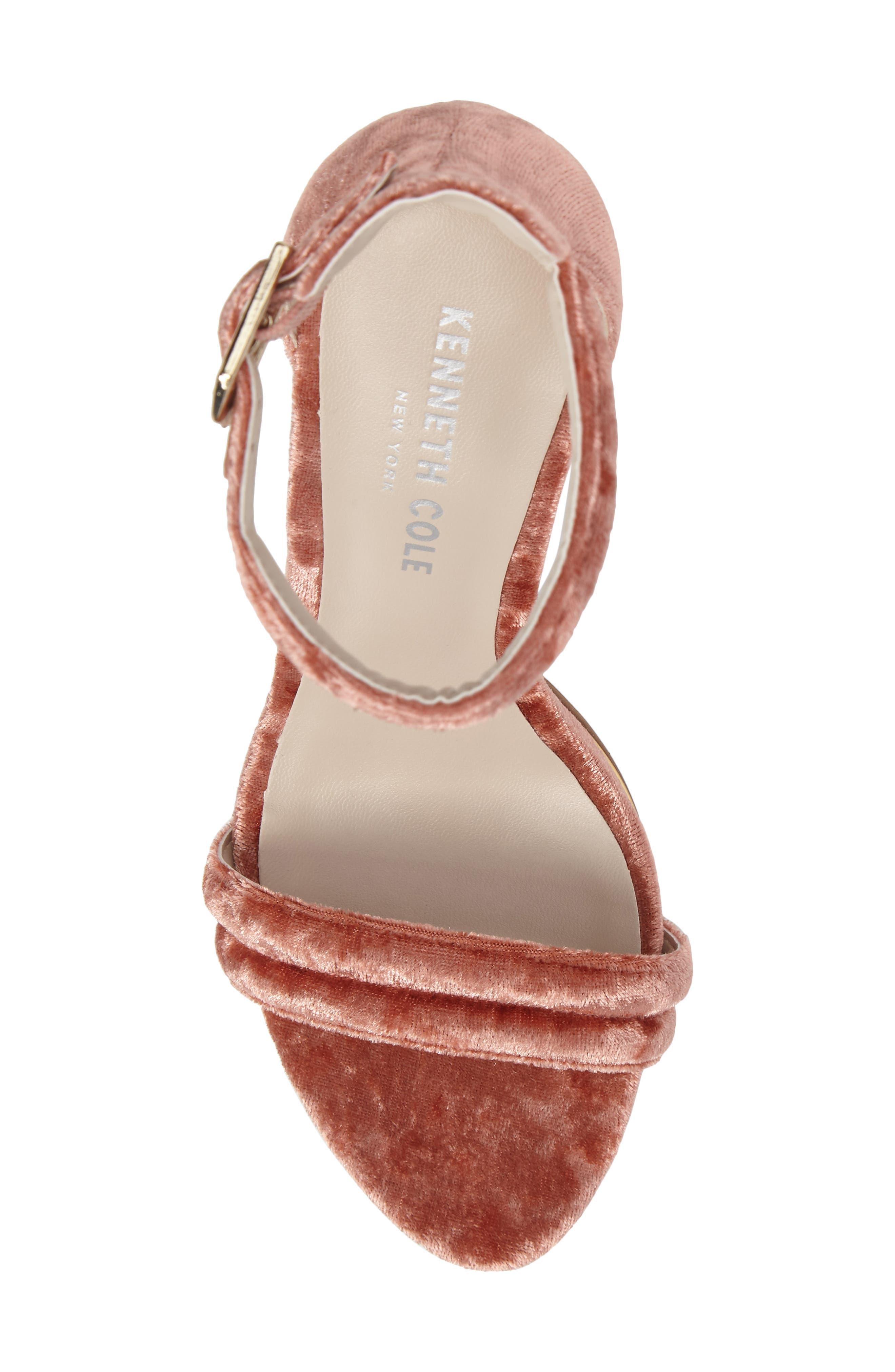 'Brooke' Sandal,                             Alternate thumbnail 5, color,                             Rose Velvet
