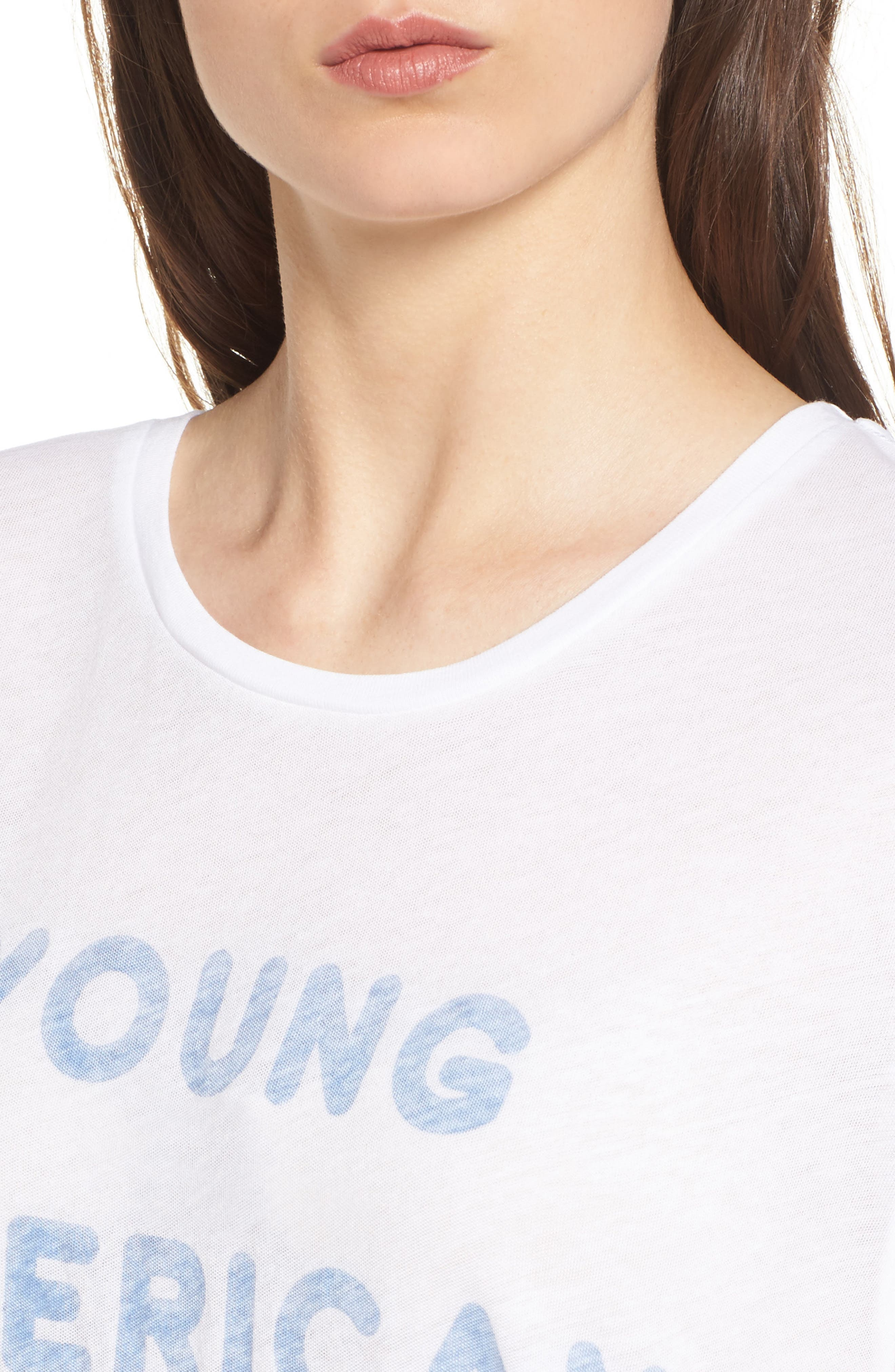 Young American Tee,                             Alternate thumbnail 4, color,                             Clean White