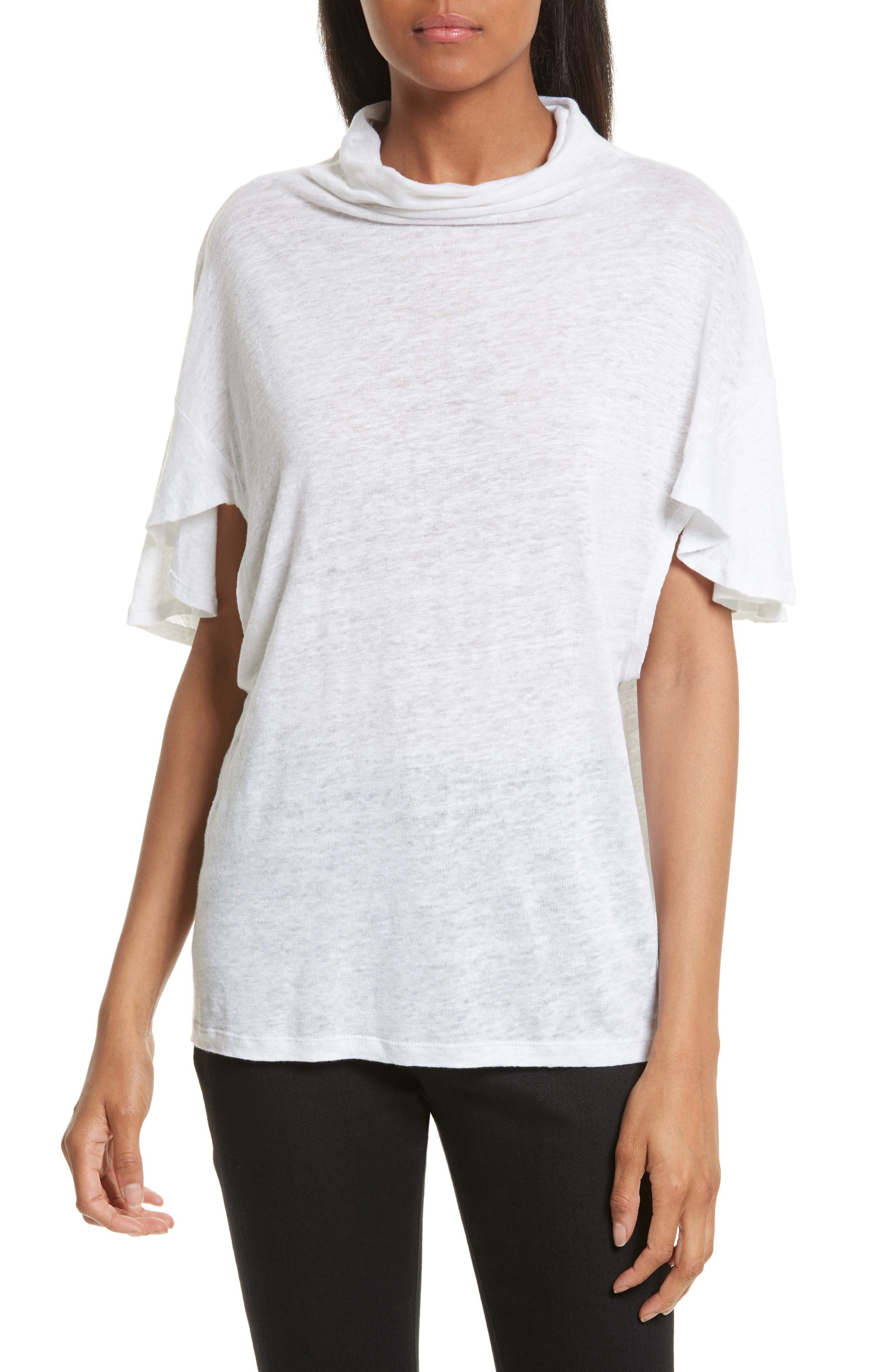 Ermont Linen Tee,                         Main,                         color, White