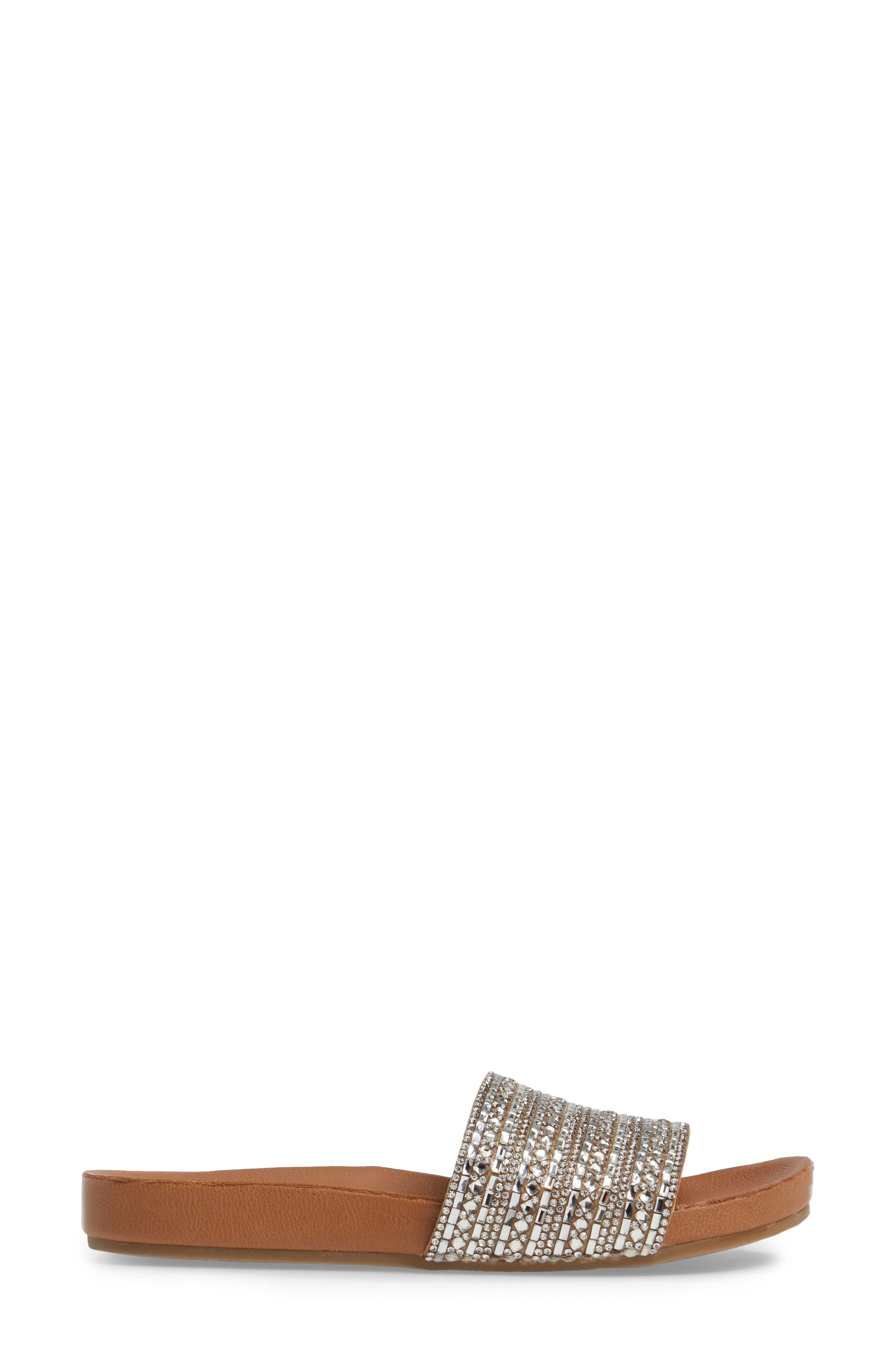Dazzle Embellished Slide Sandal,                             Alternate thumbnail 3, color,                             Rhinestone