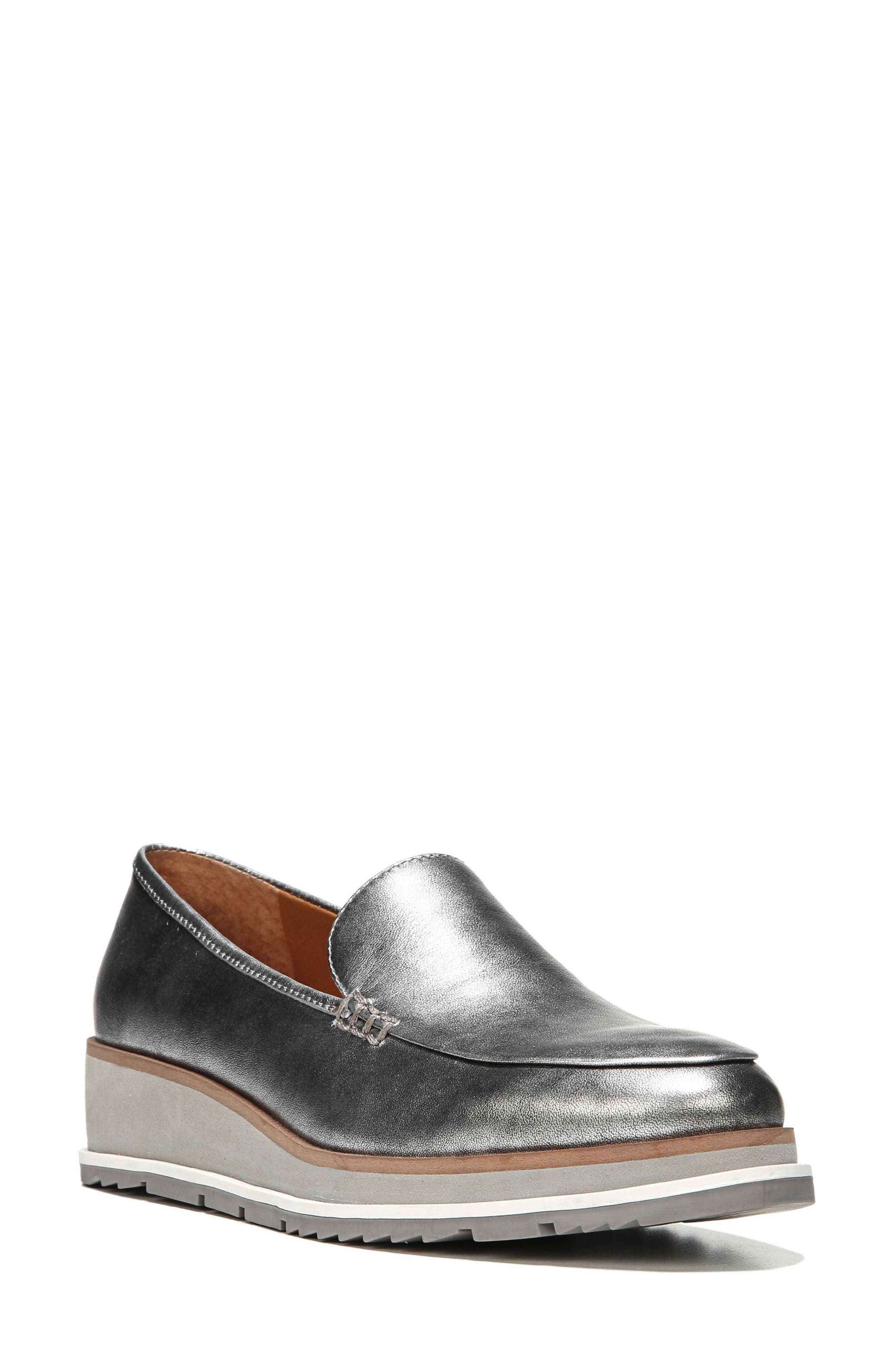 Ayers Loafer Flat,                         Main,                         color, Silver Leather