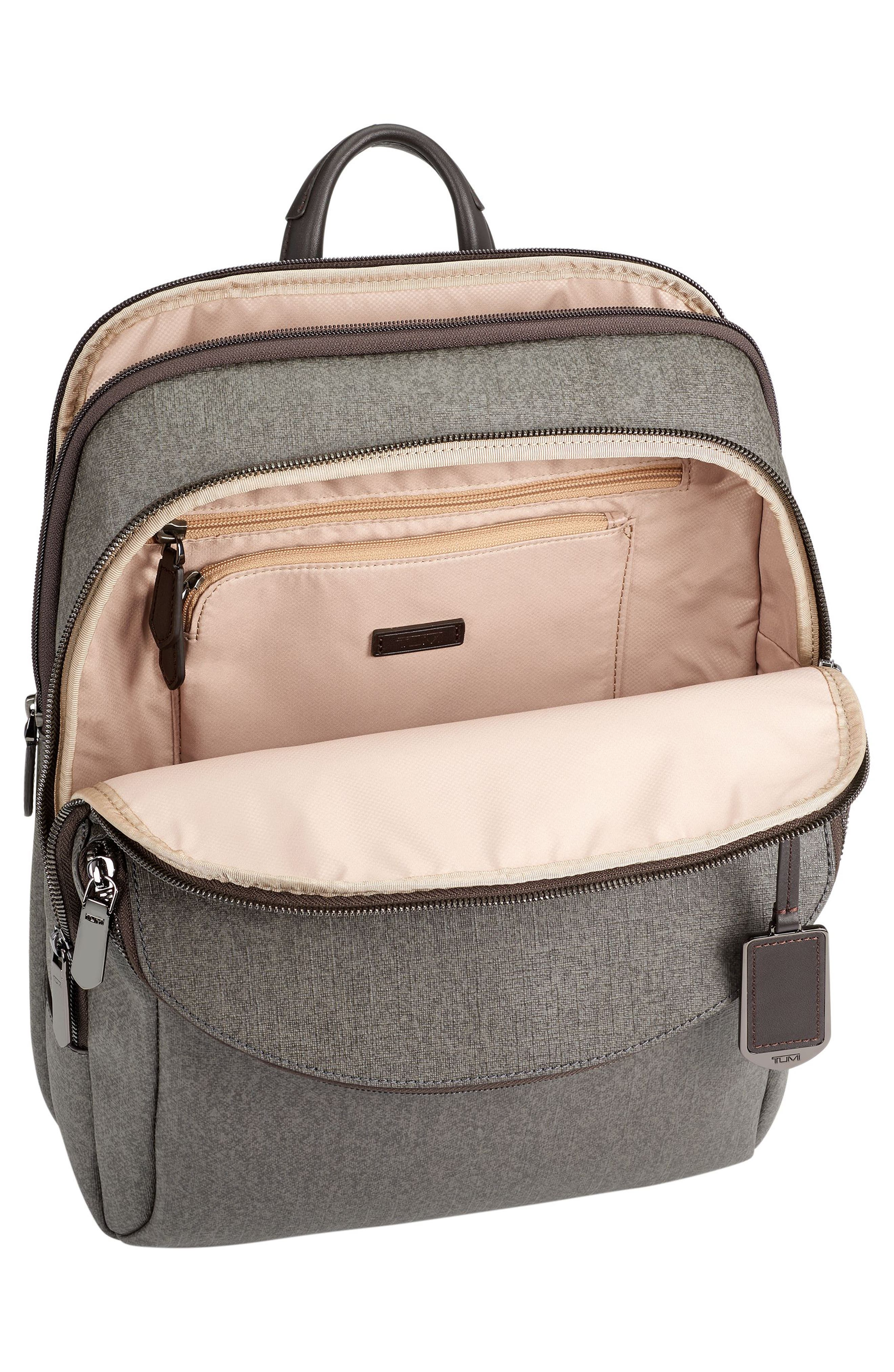 Sinclair - Hanne Coated Canvas Laptop Backpack,                             Alternate thumbnail 4, color,                             Earl Grey