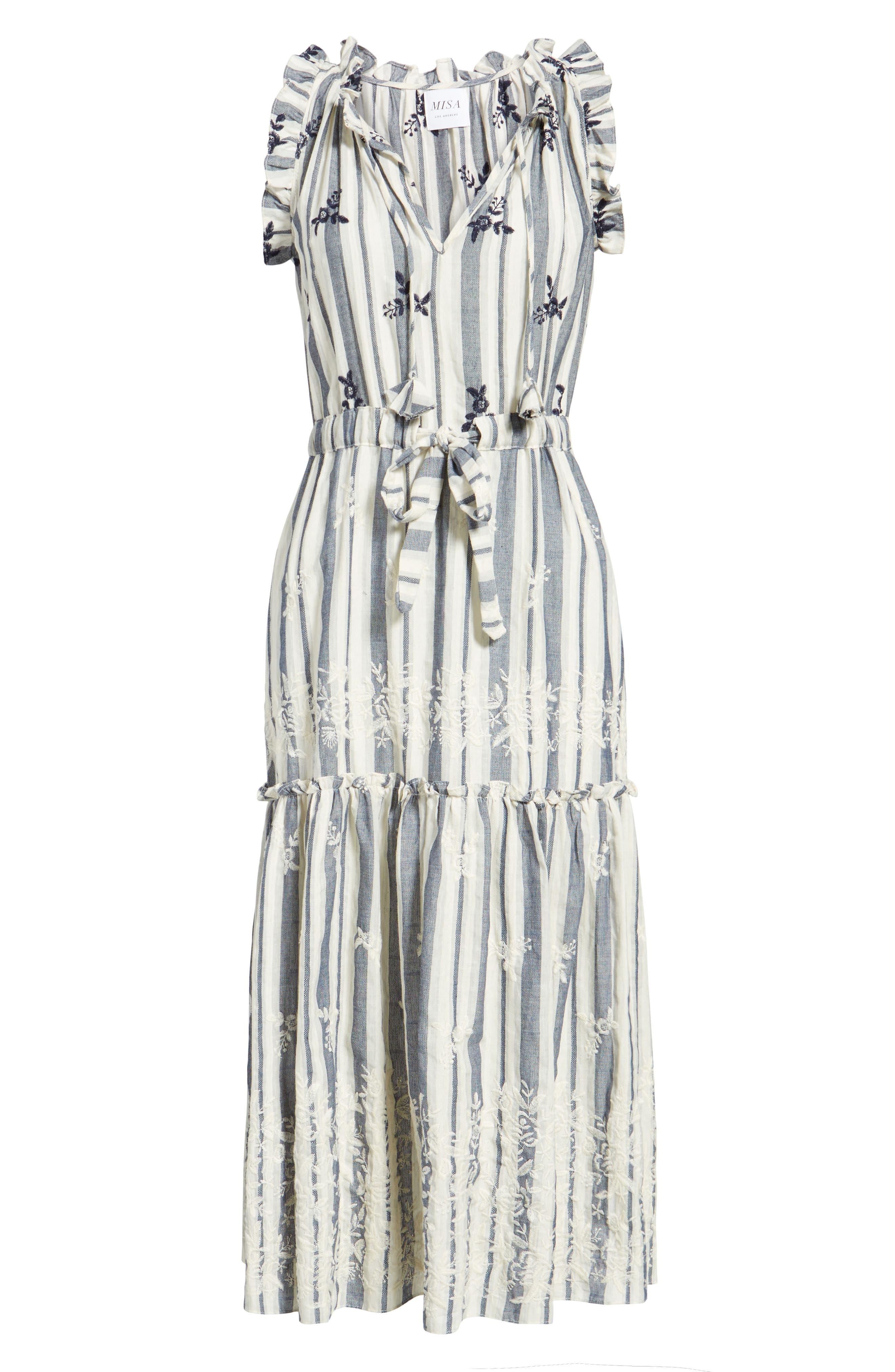 Alternate Image 7  - MISA Los Angeles Martina Midi Dress