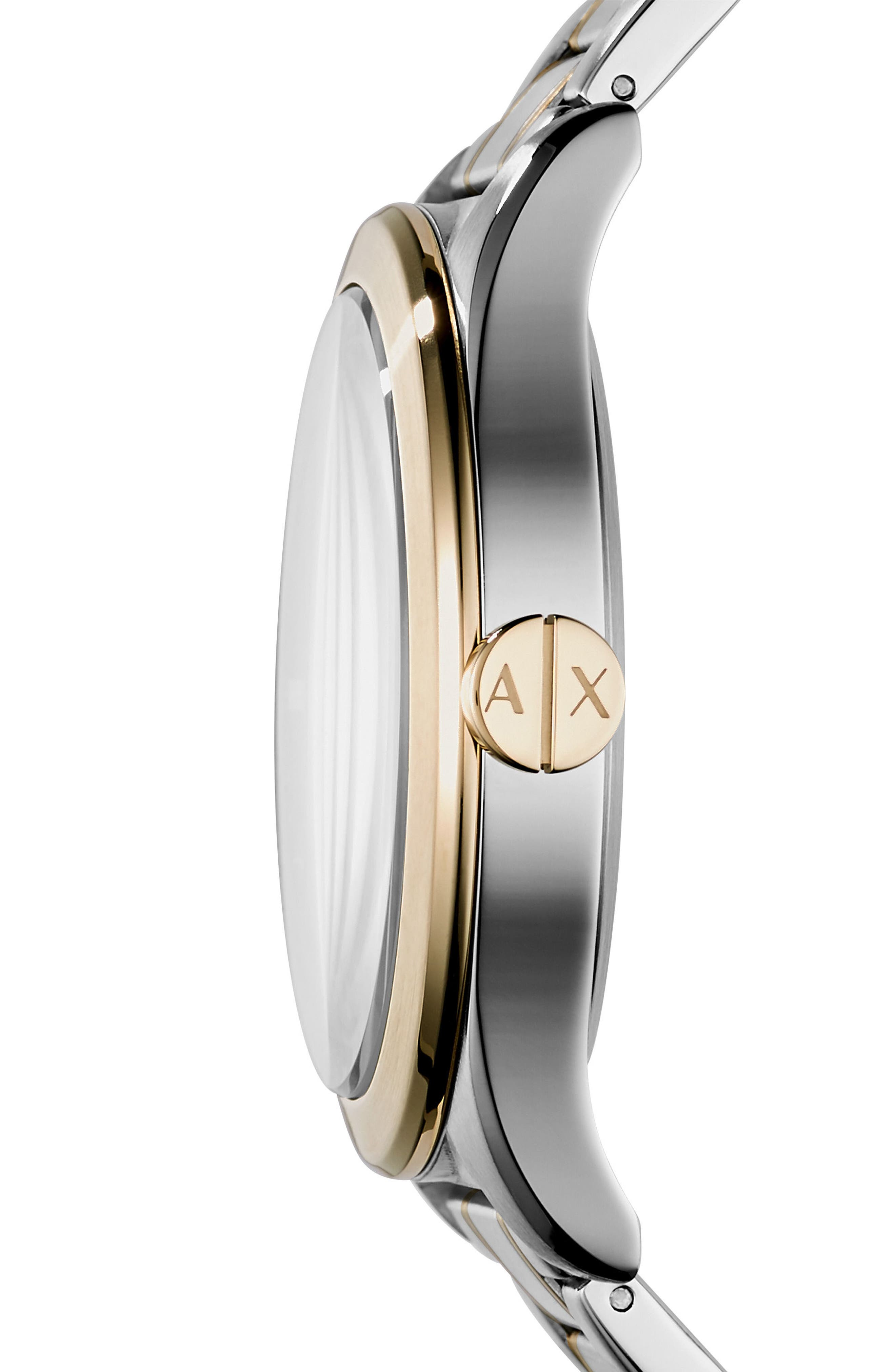Alternate Image 2  - AX Armani Exchange Nico Two-Tone Bracelet Watch, 44mm