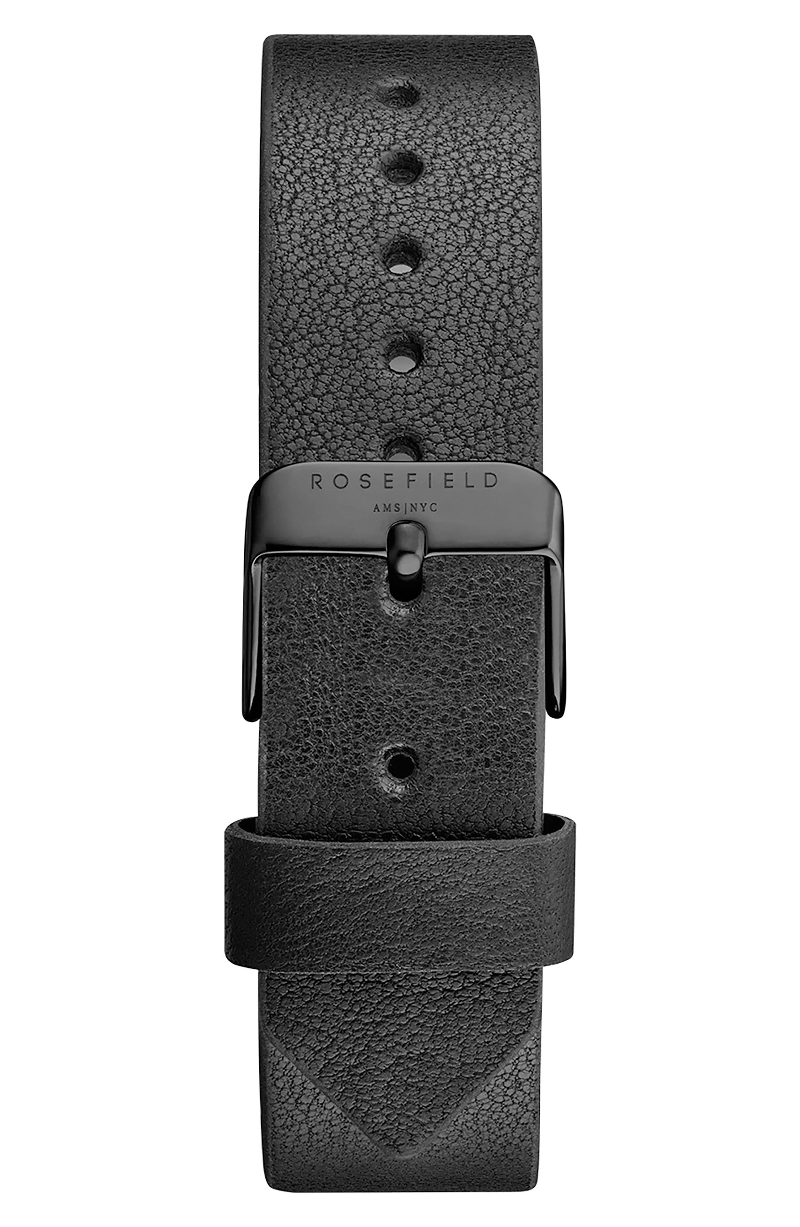 Gramercy Leather Strap Watch, 38mm,                             Alternate thumbnail 2, color,                             Black