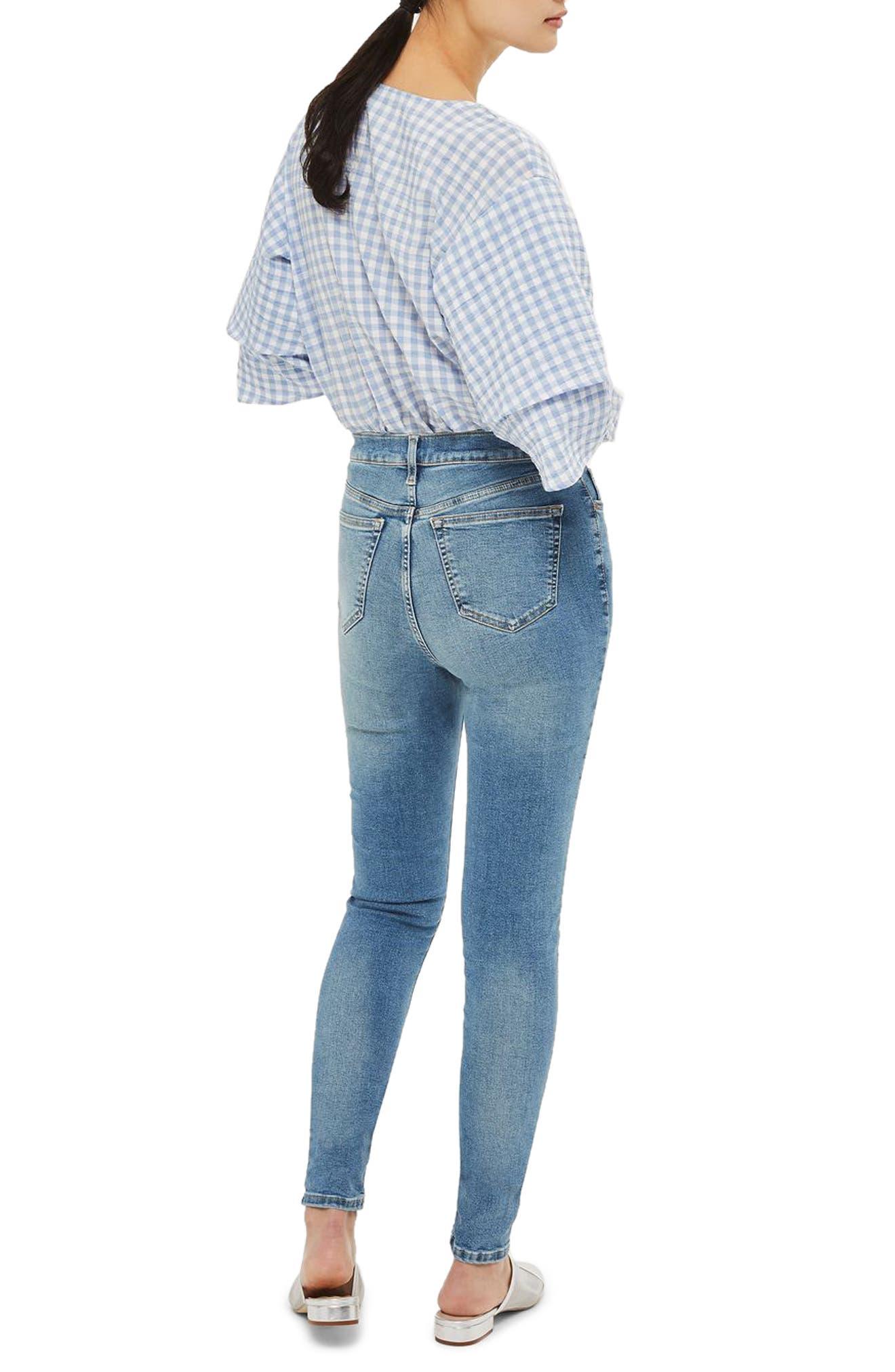 Alternate Image 3  - Topshop Jamie High Waist Skinny Jeans (Tall)