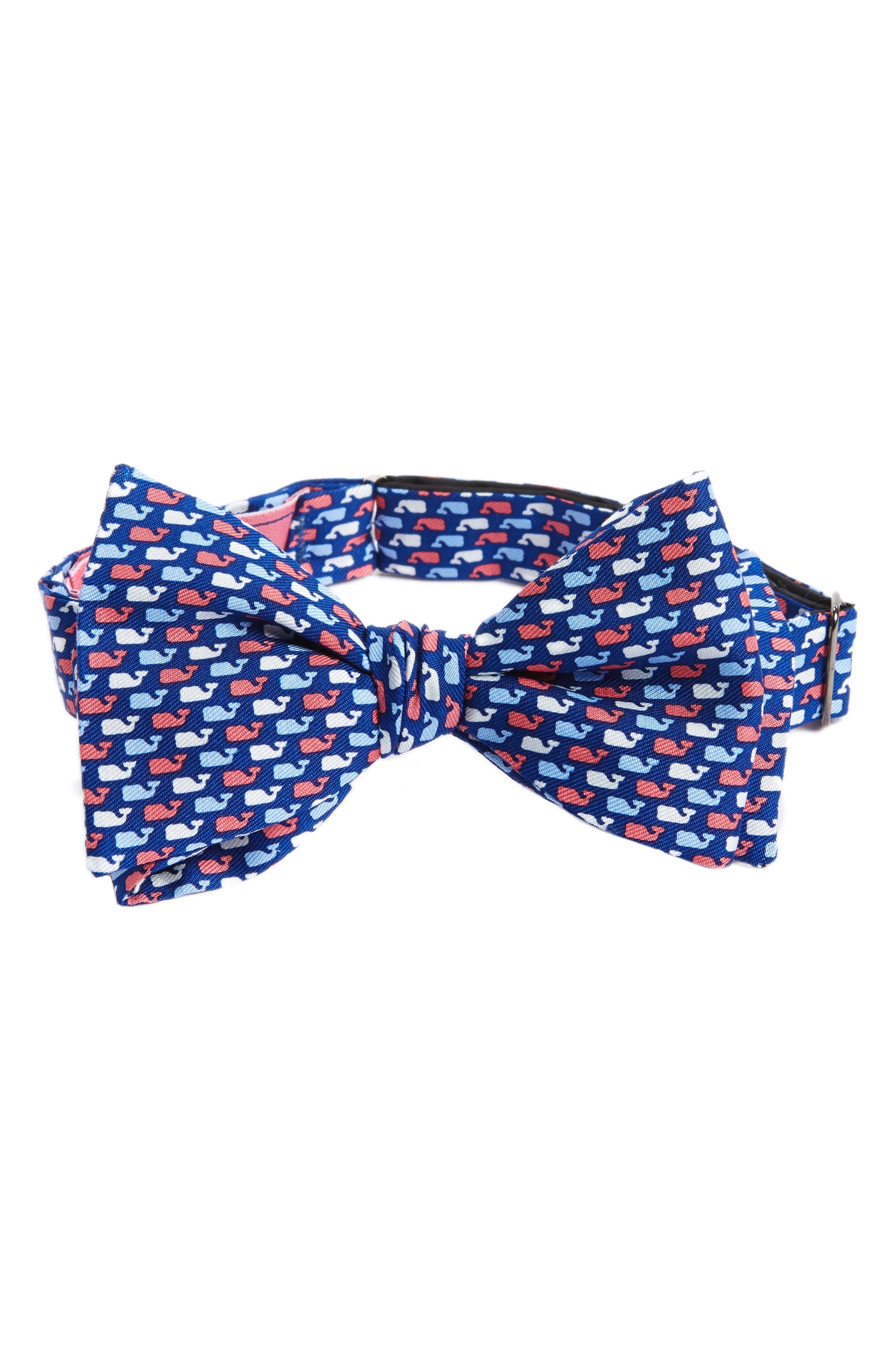 VINEYARD VINES Red White & Whale Silk Bow Tie