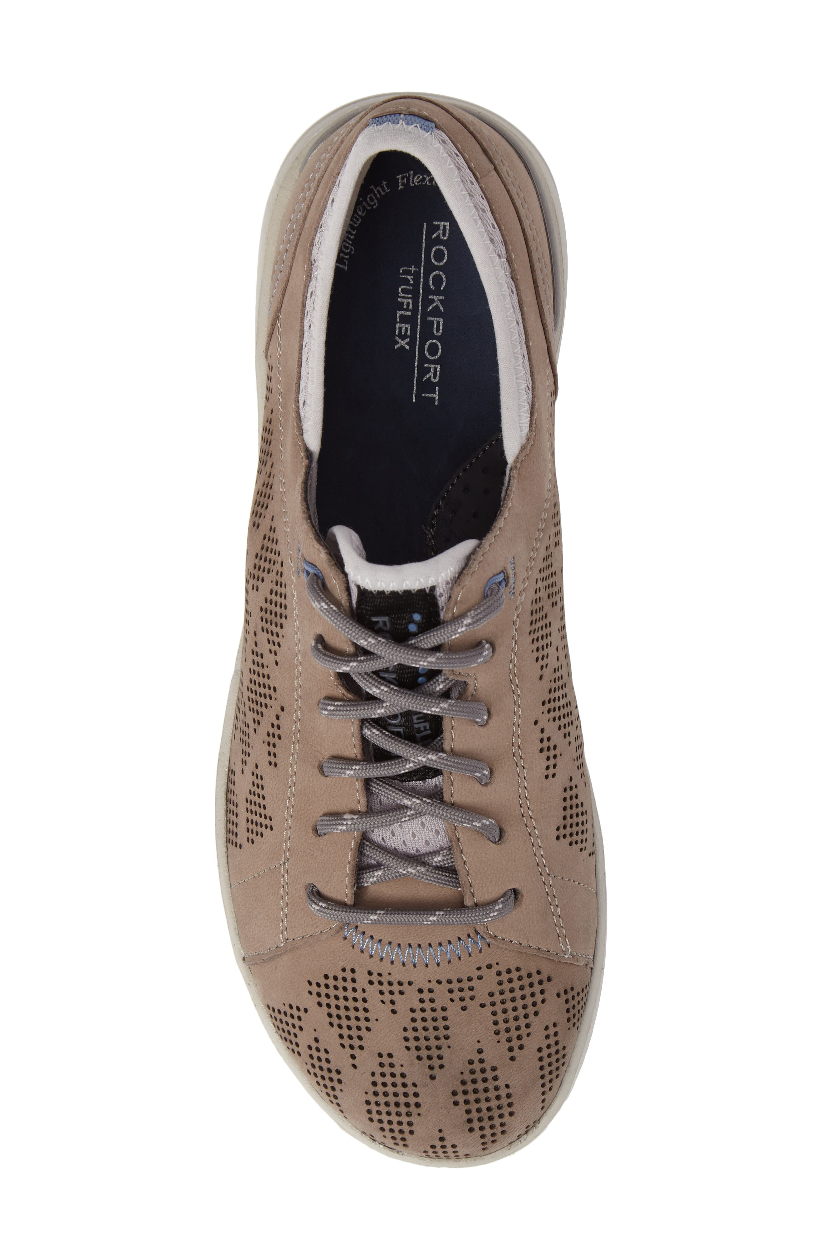 truFLEX Perforated Sneaker,                             Alternate thumbnail 5, color,                             Sand Leather