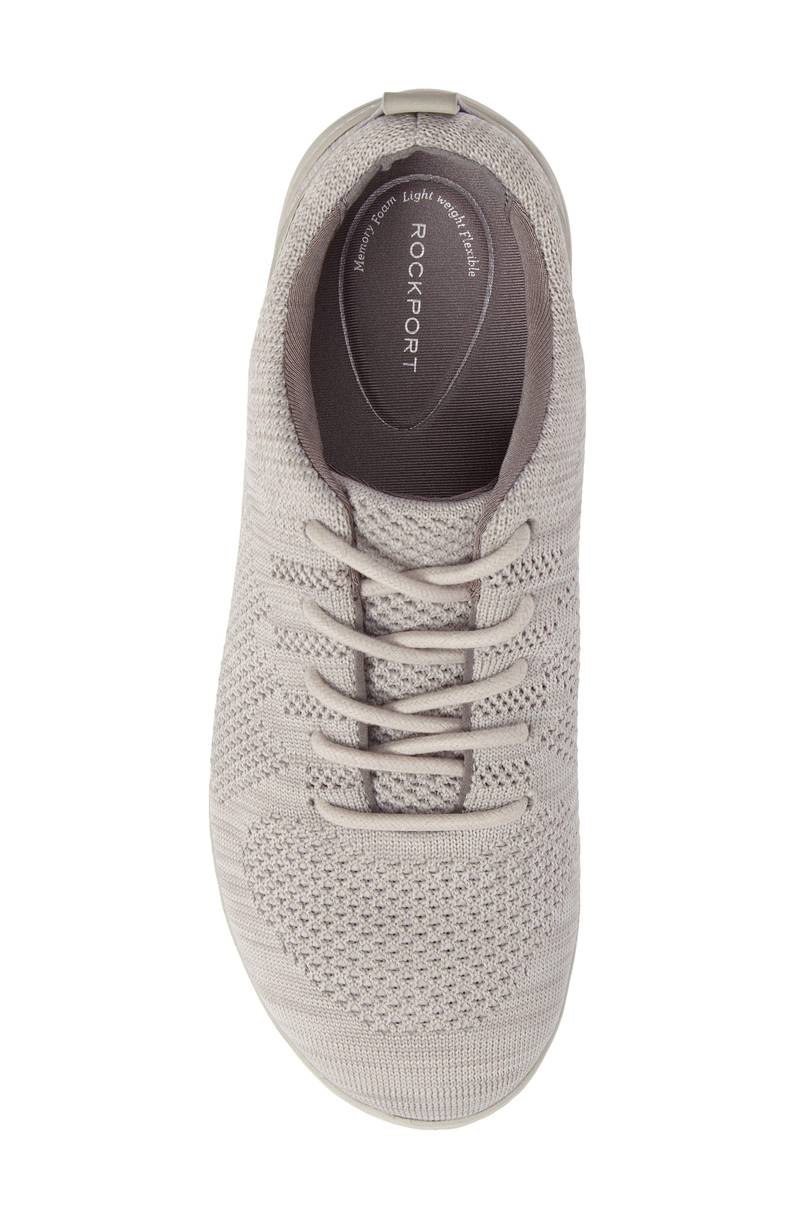 Raelyn Knit Sneaker,                             Alternate thumbnail 5, color,                             Cloud Fabric