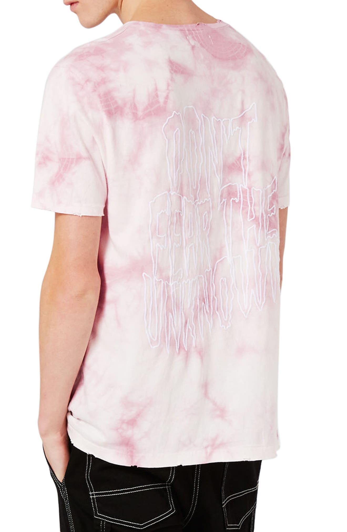 Oversize Unknown Graphic T-Shirt,                             Alternate thumbnail 3, color,                             Pink