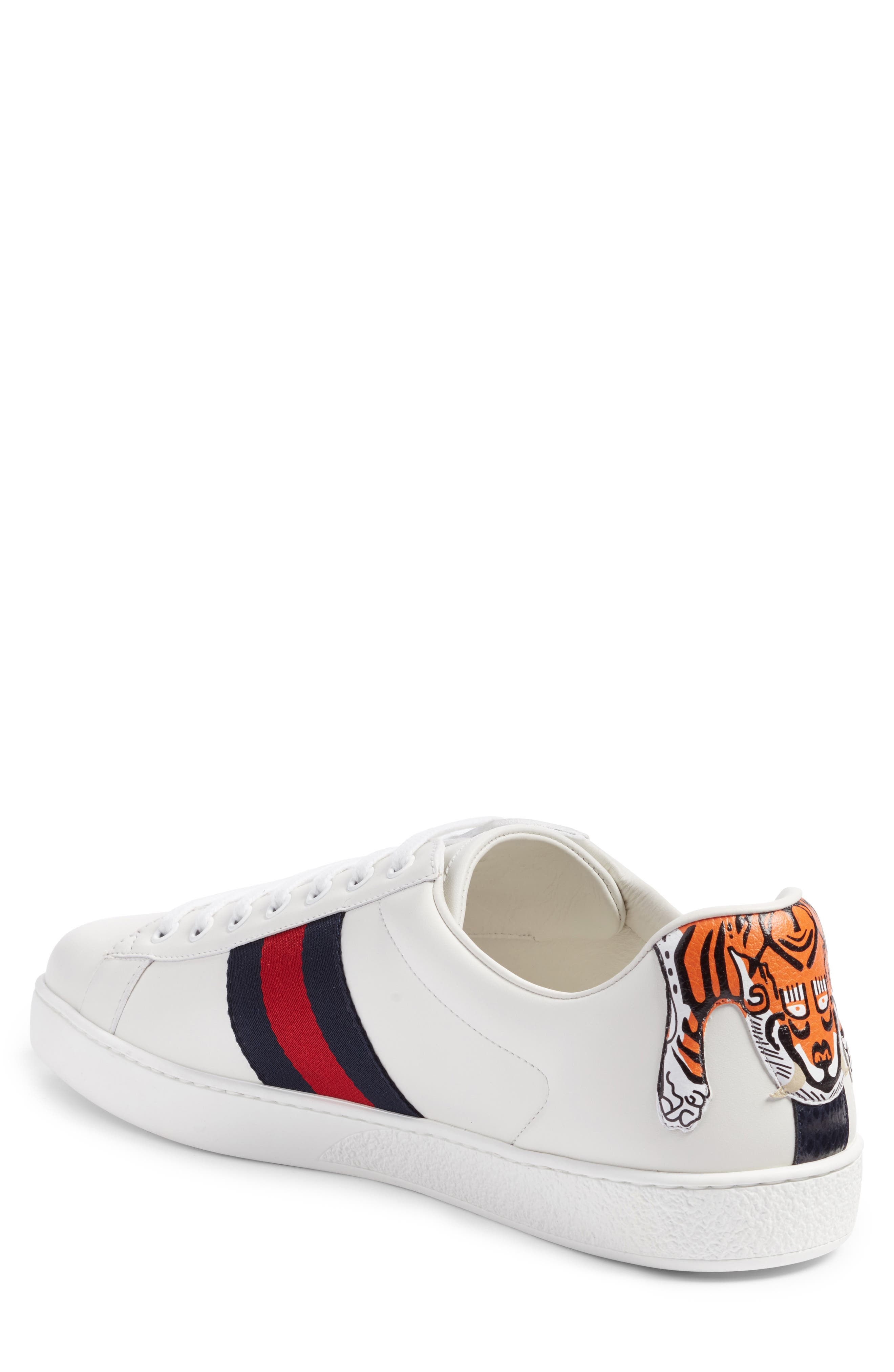Alternate Image 2  - Gucci New Ace Tiger Sneaker (Men)