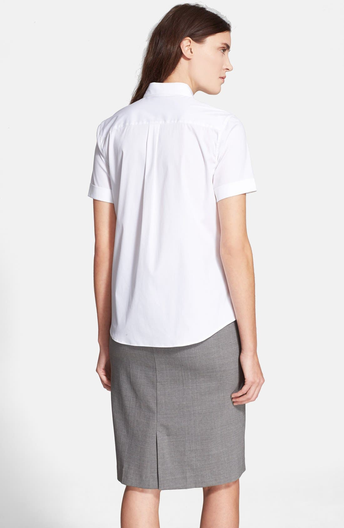 Alternate Image 3  - Theory 'Uniform' Short Sleeve Blouse