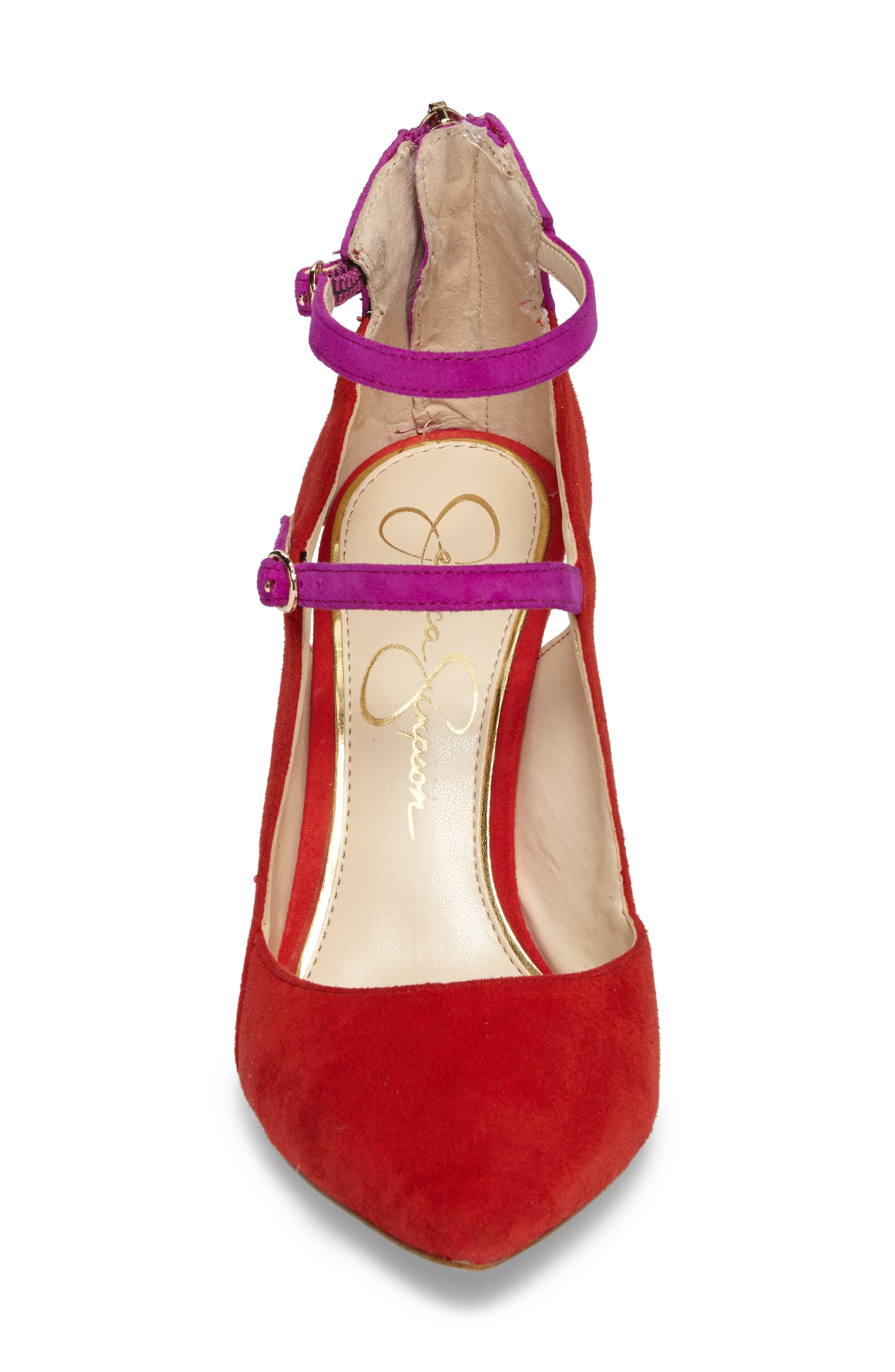 Liviana Pointy-Toe Pump,                             Alternate thumbnail 4, color,                             Red Muse Com