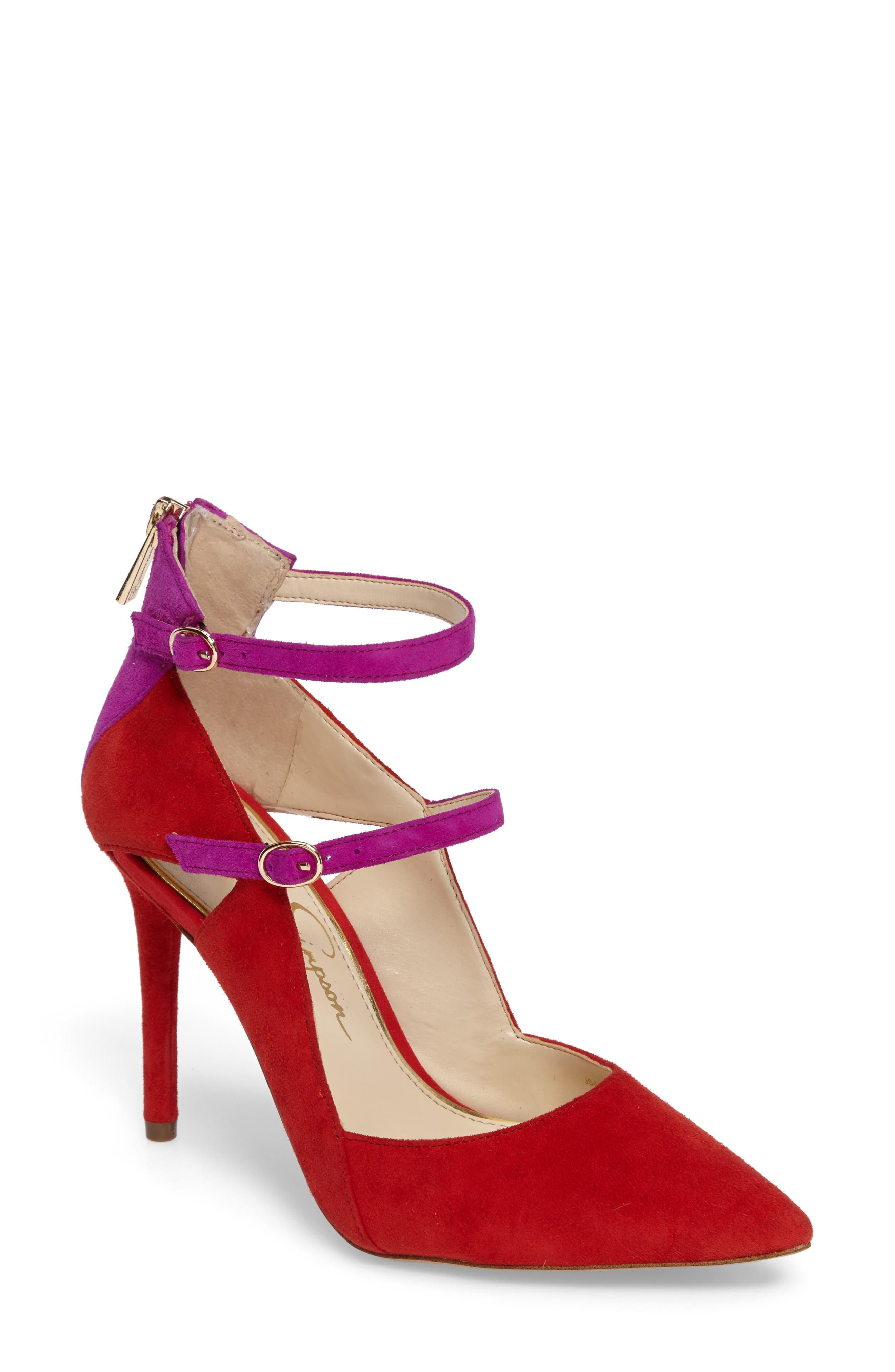 Liviana Pointy-Toe Pump,                         Main,                         color, Red Muse Com