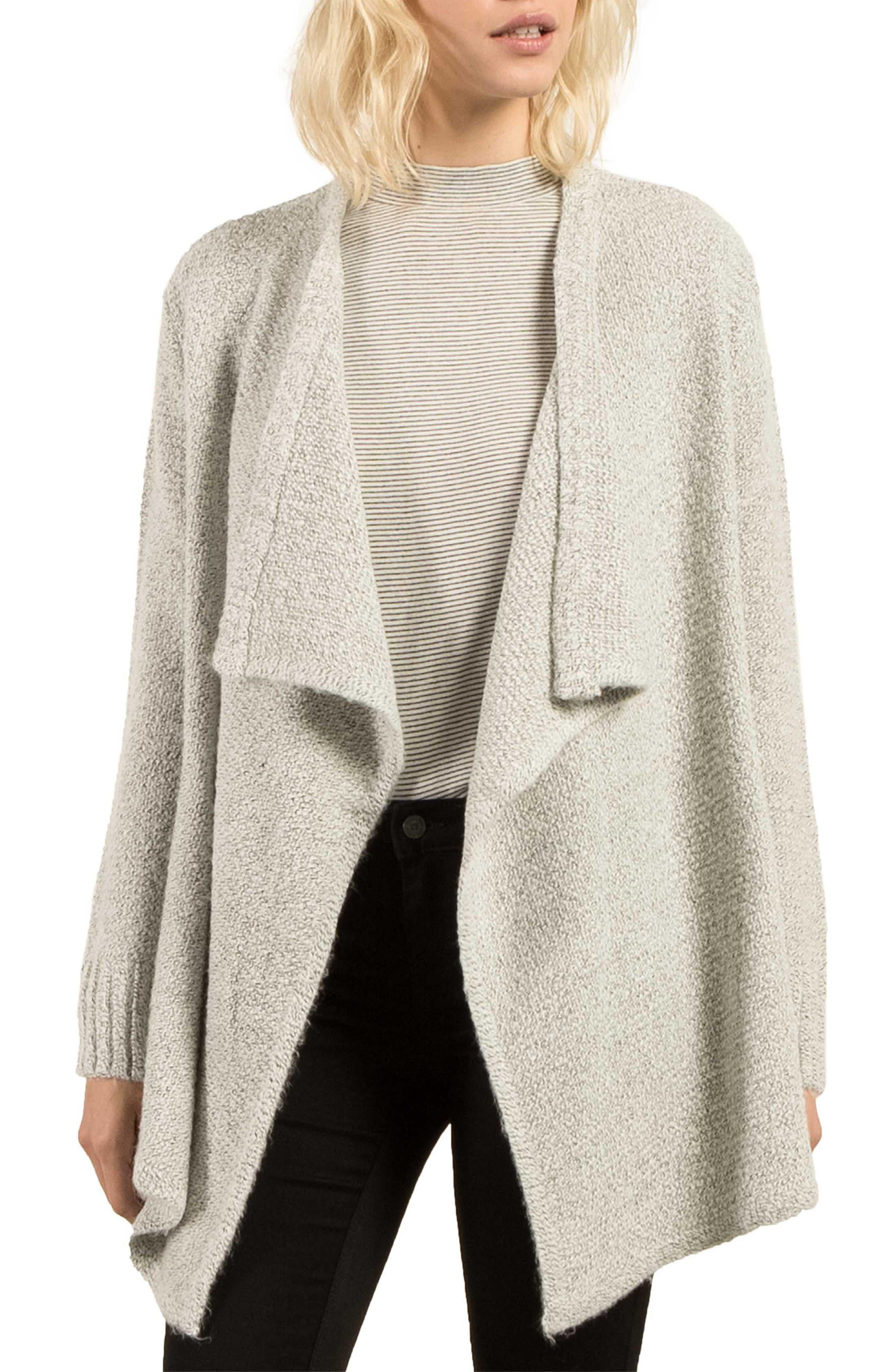 Cold Daze Wrap Sweater,                         Main,                         color, Heather Grey