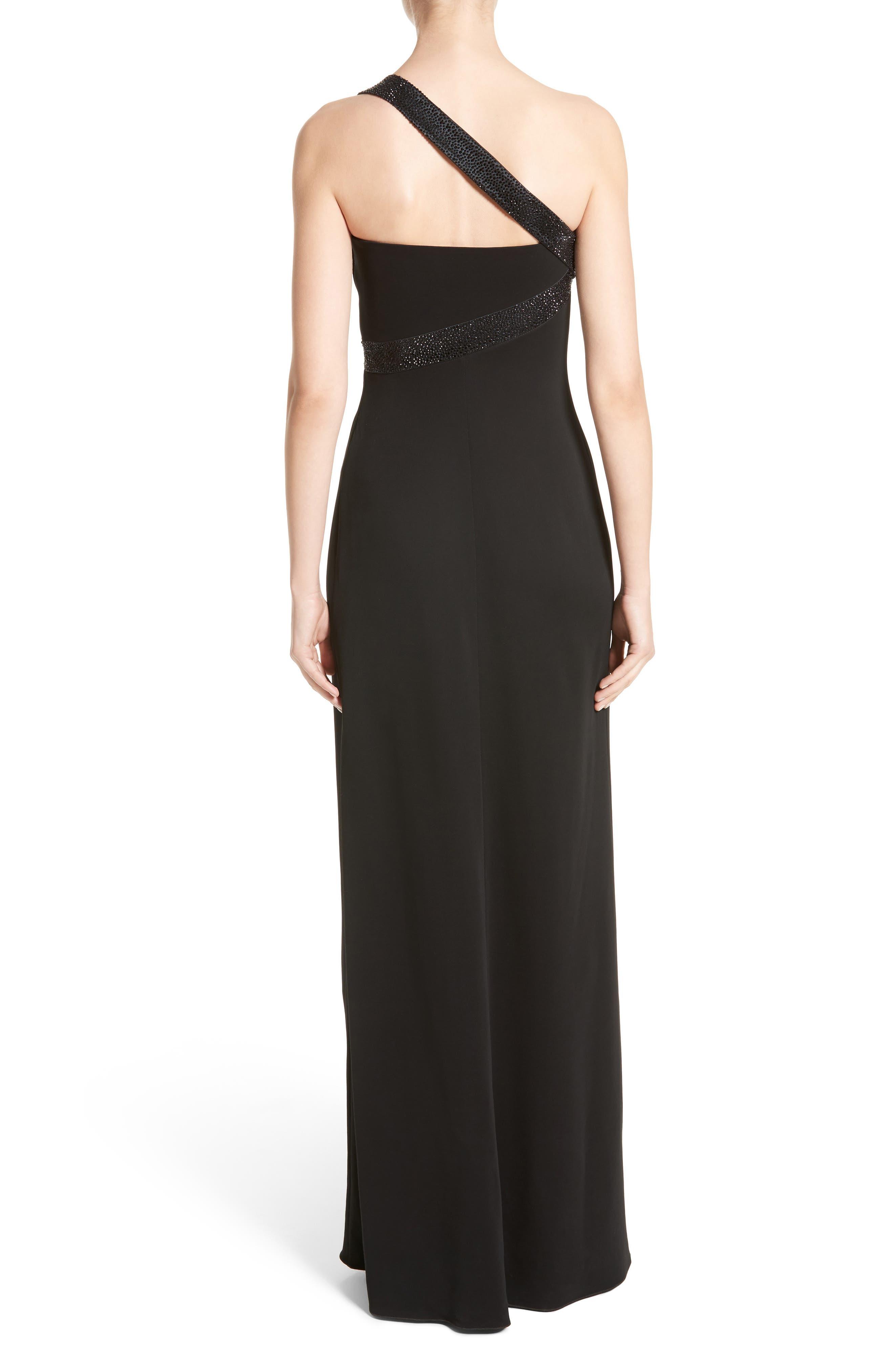 Alternate Image 2  - Armani Collezioni Crystal Trim Matte Jersey Gown