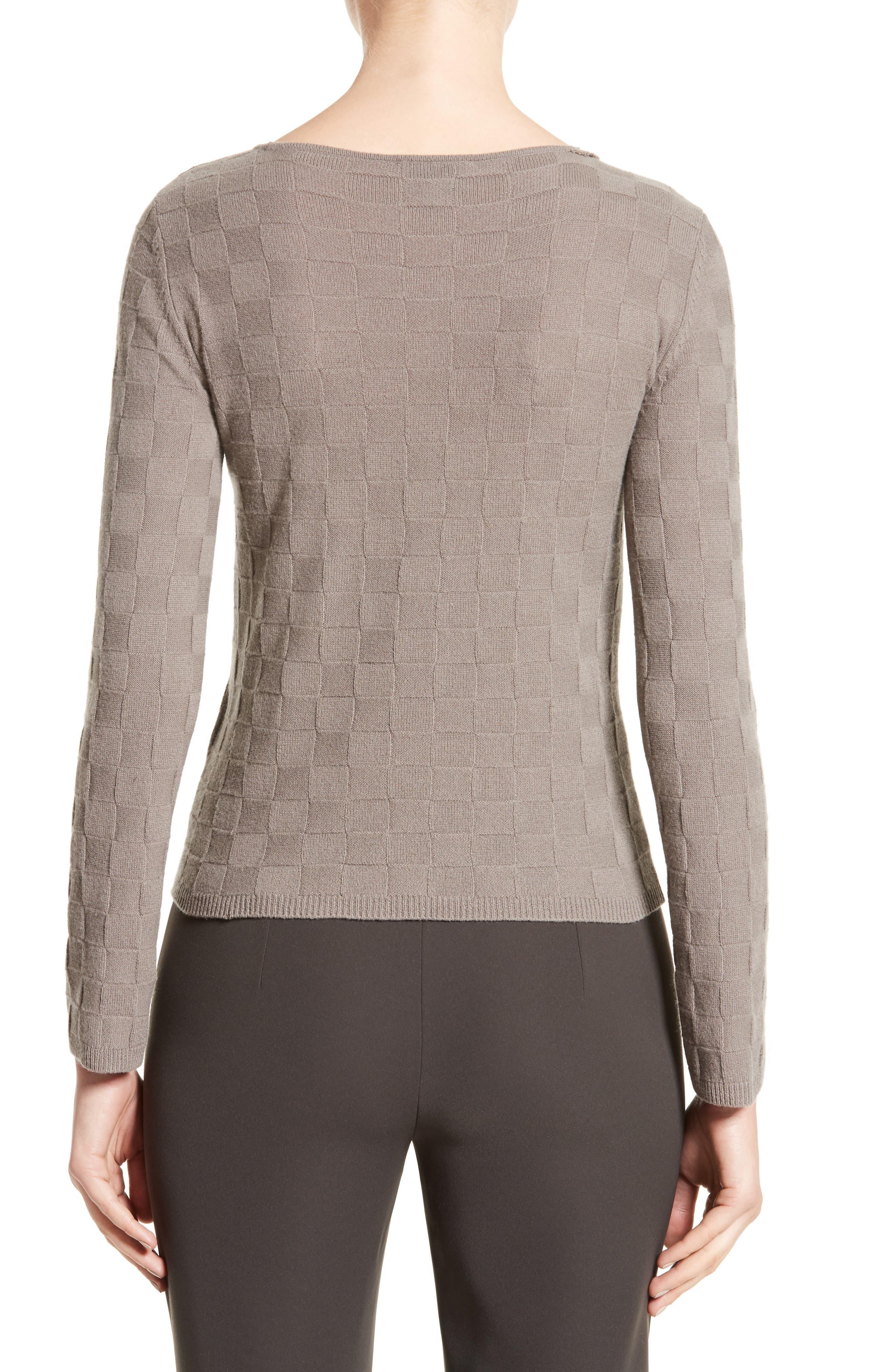 Alternate Image 2  - Armani Collezioni Checkerboard Cashmere Sweater