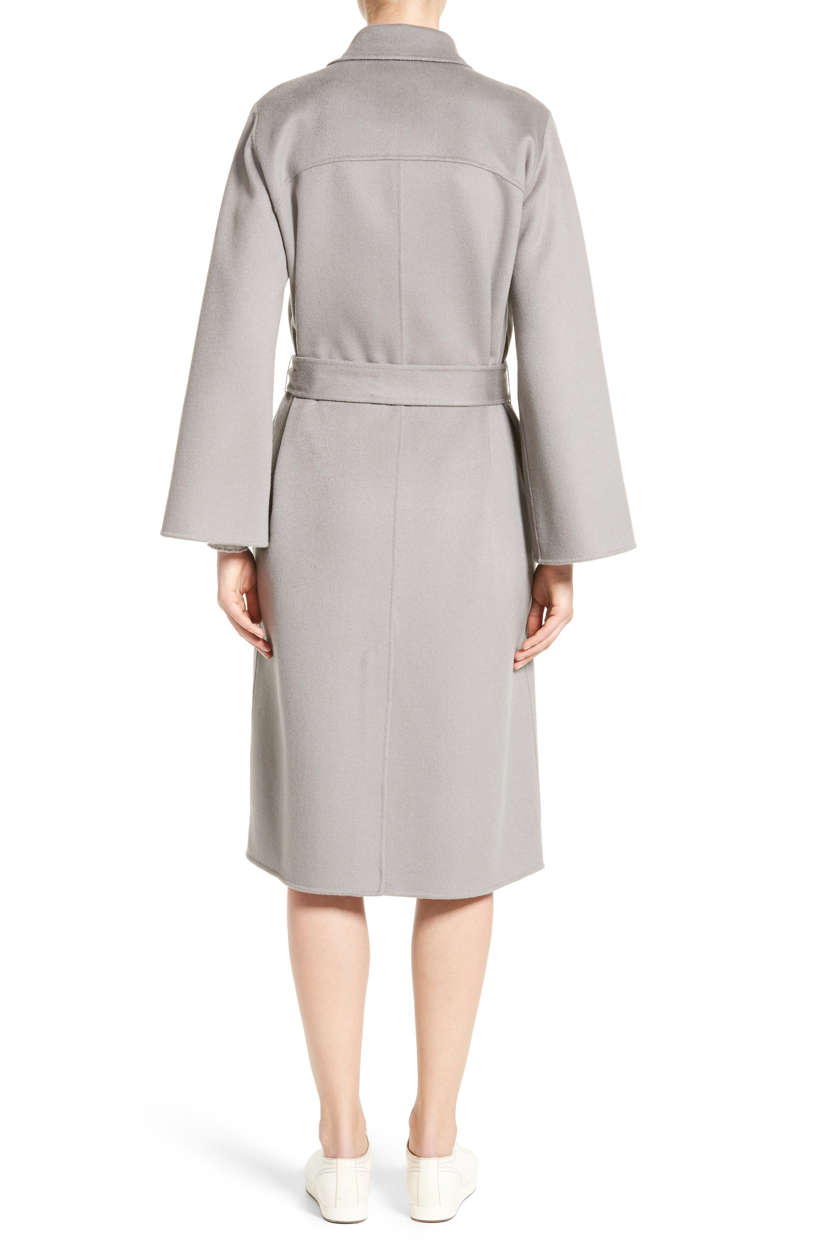 Alternate Image 2  - Armani Collezioni Double Face Cashmere Wrap Coat