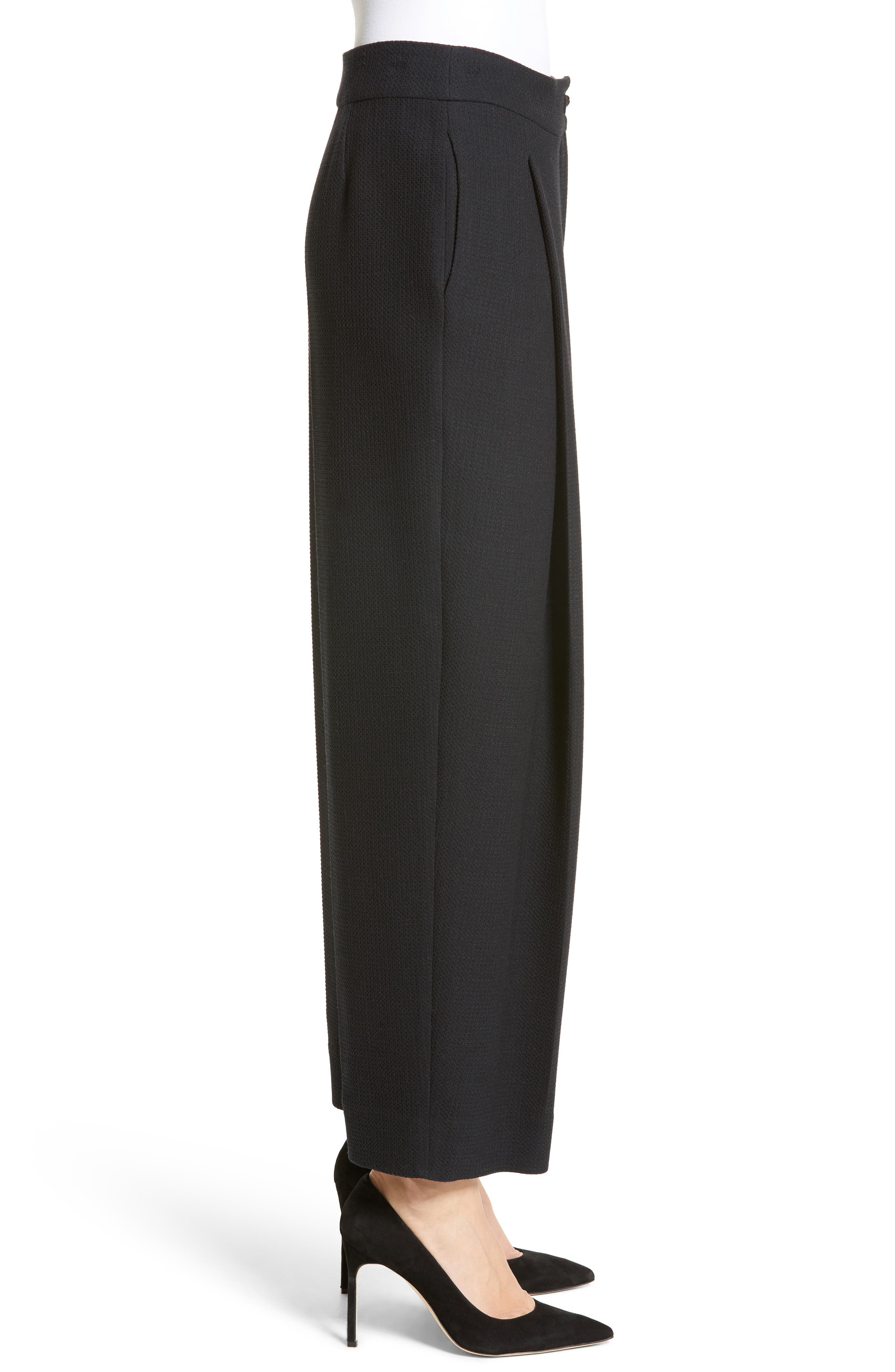 Alternate Image 3  - Armani Collezioni Stretch Wool Wide Leg Pants