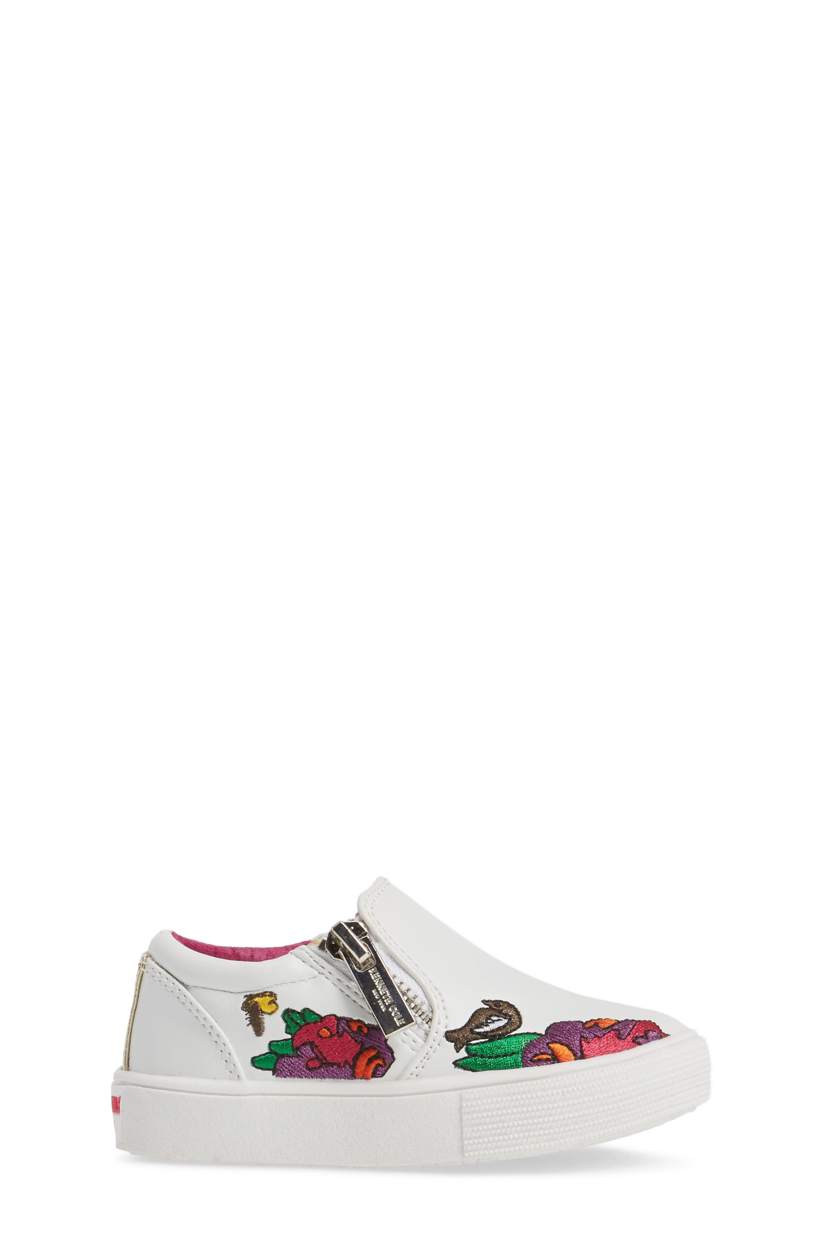 Alternate Image 3  - Kenneth Cole New York Kam Dory Embroidered Zip Sneaker (Walker & Toddler)