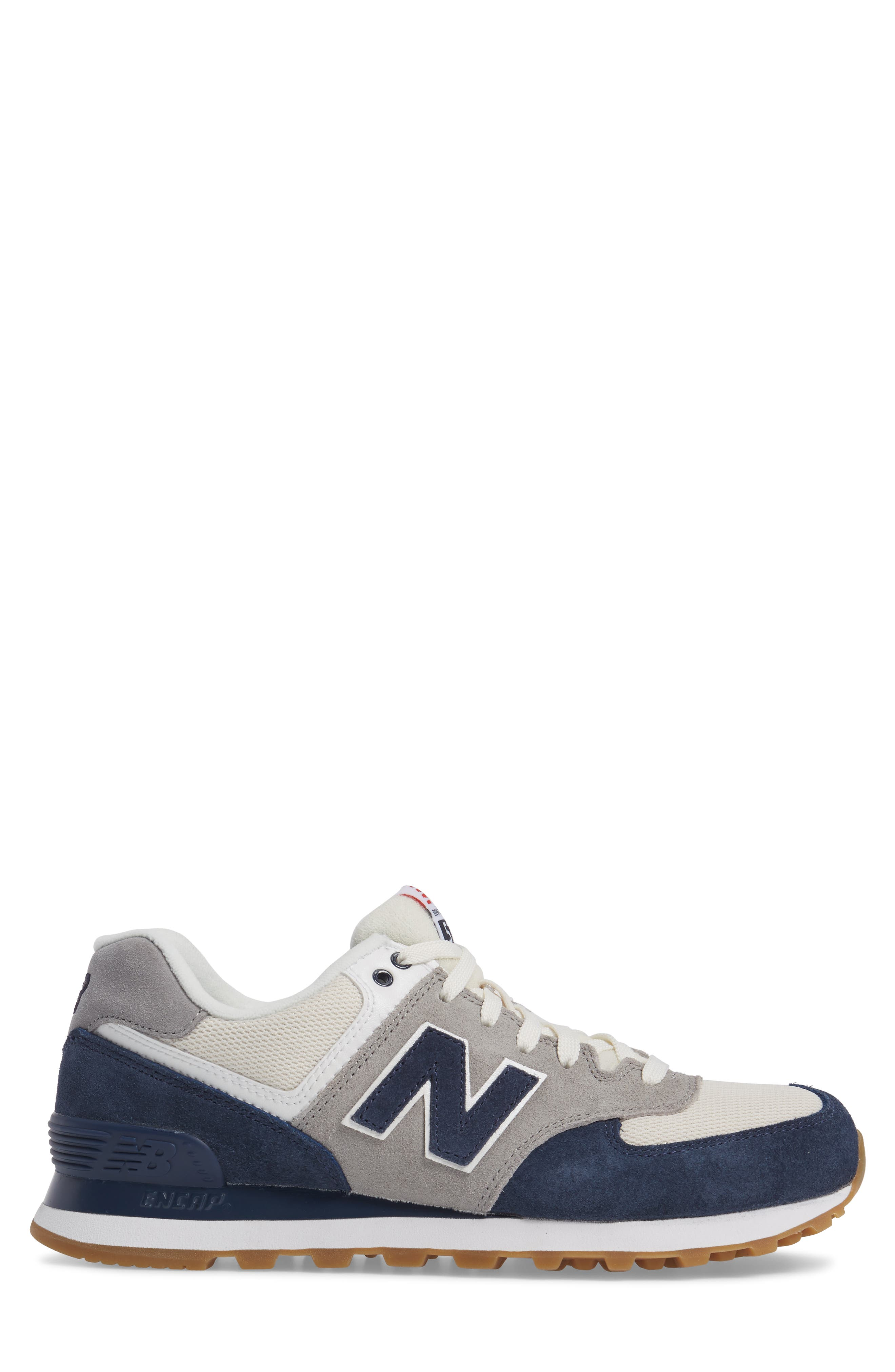 574 Retro Sport Sneaker,                             Alternate thumbnail 3, color,                             Electric Blue