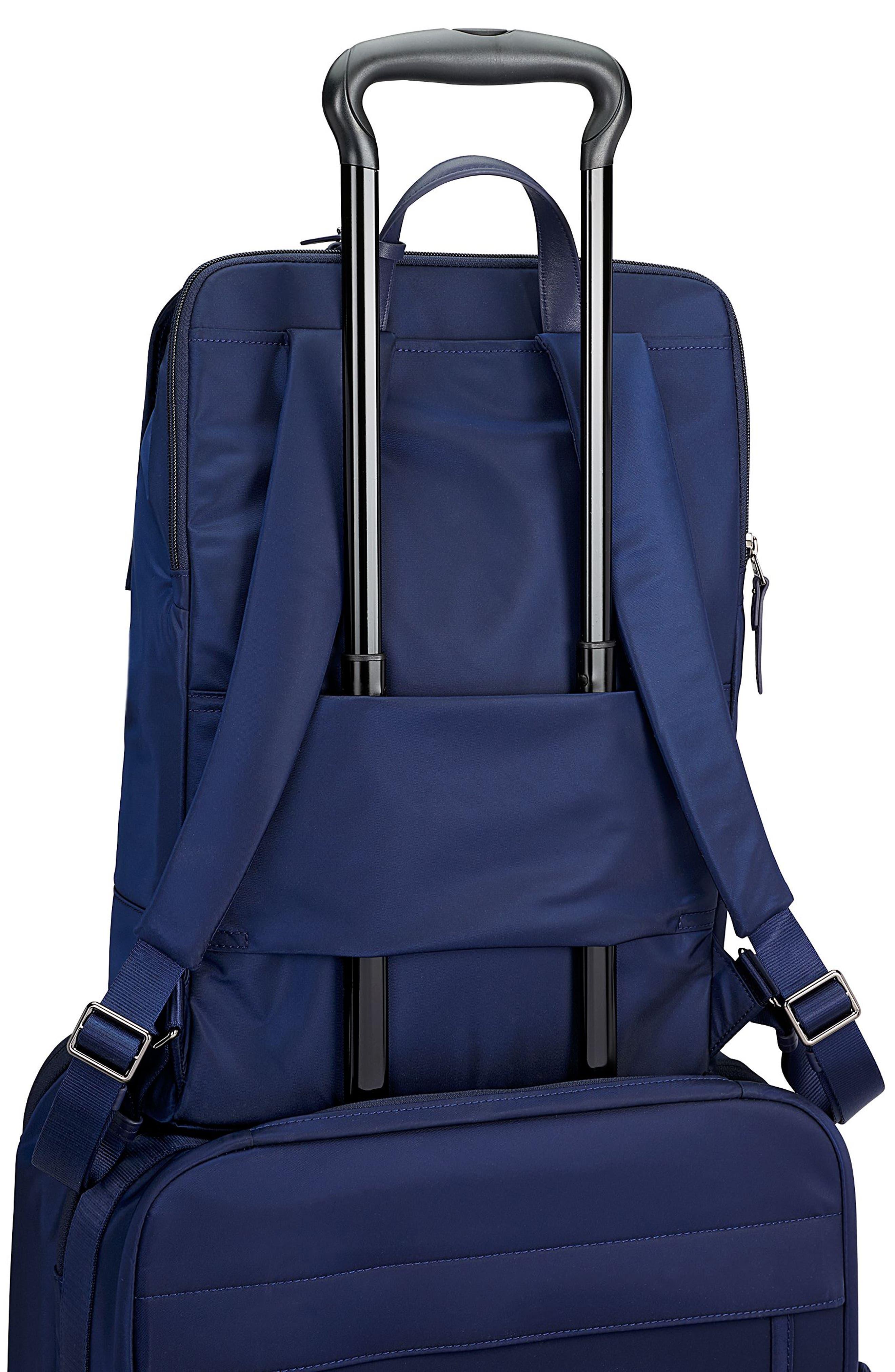 'Voyageur - Sacha' Flap Backpack,                             Alternate thumbnail 4, color,                             Marine