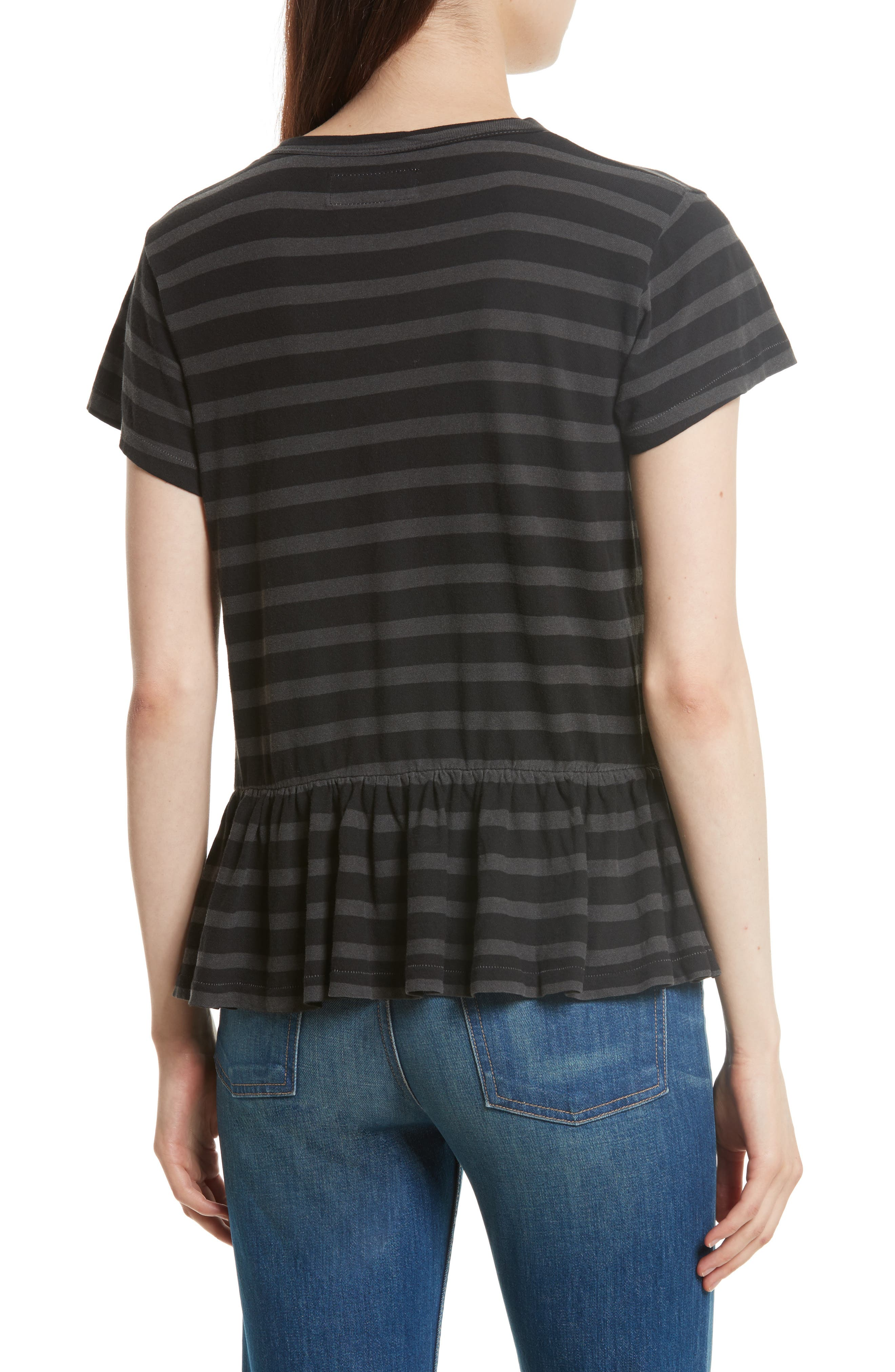 Alternate Image 2  - THE GREAT. The Ruffle Stripe Tee