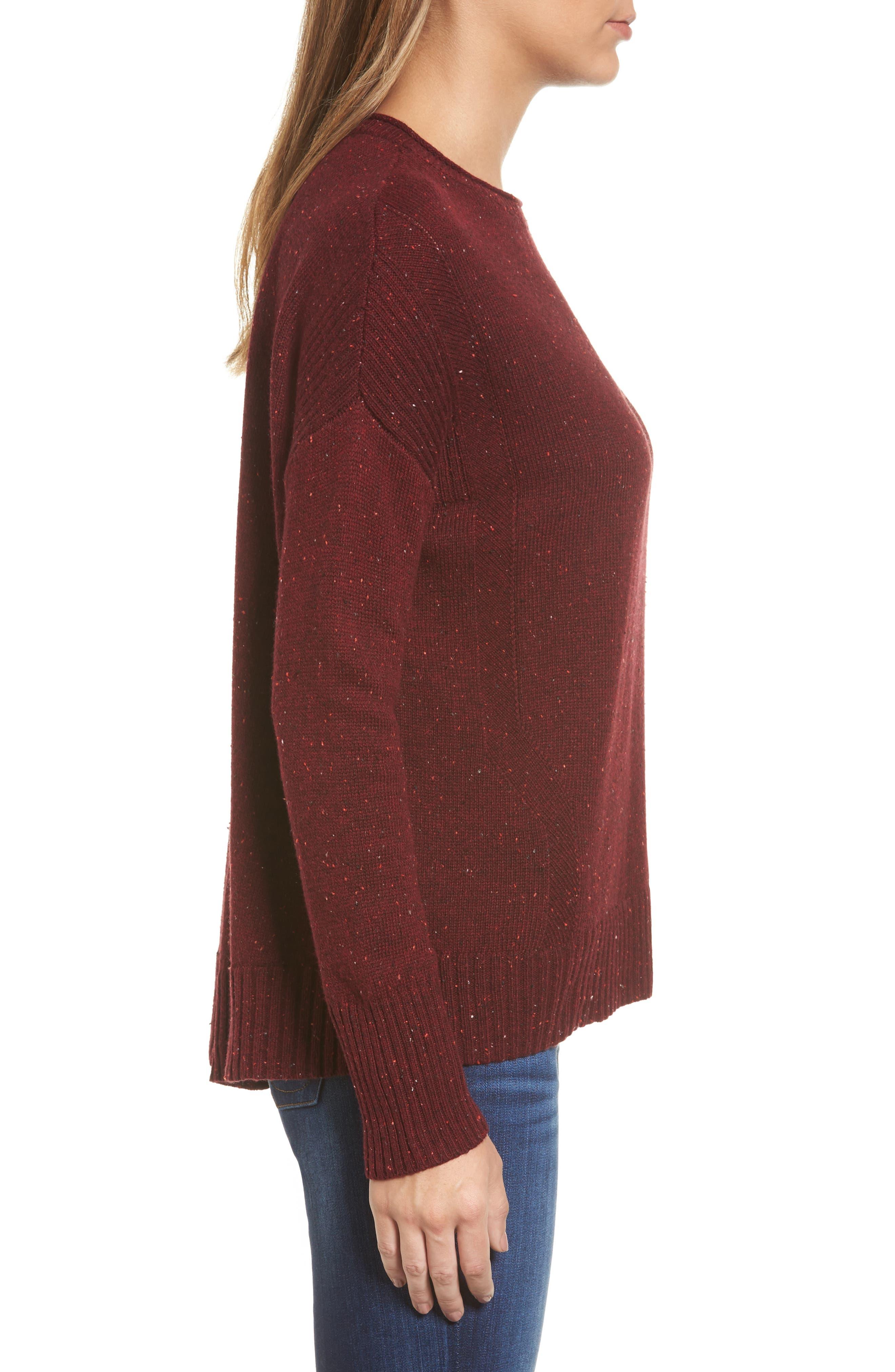 Alternate Image 3  - Caslon® Back Zip Pullover