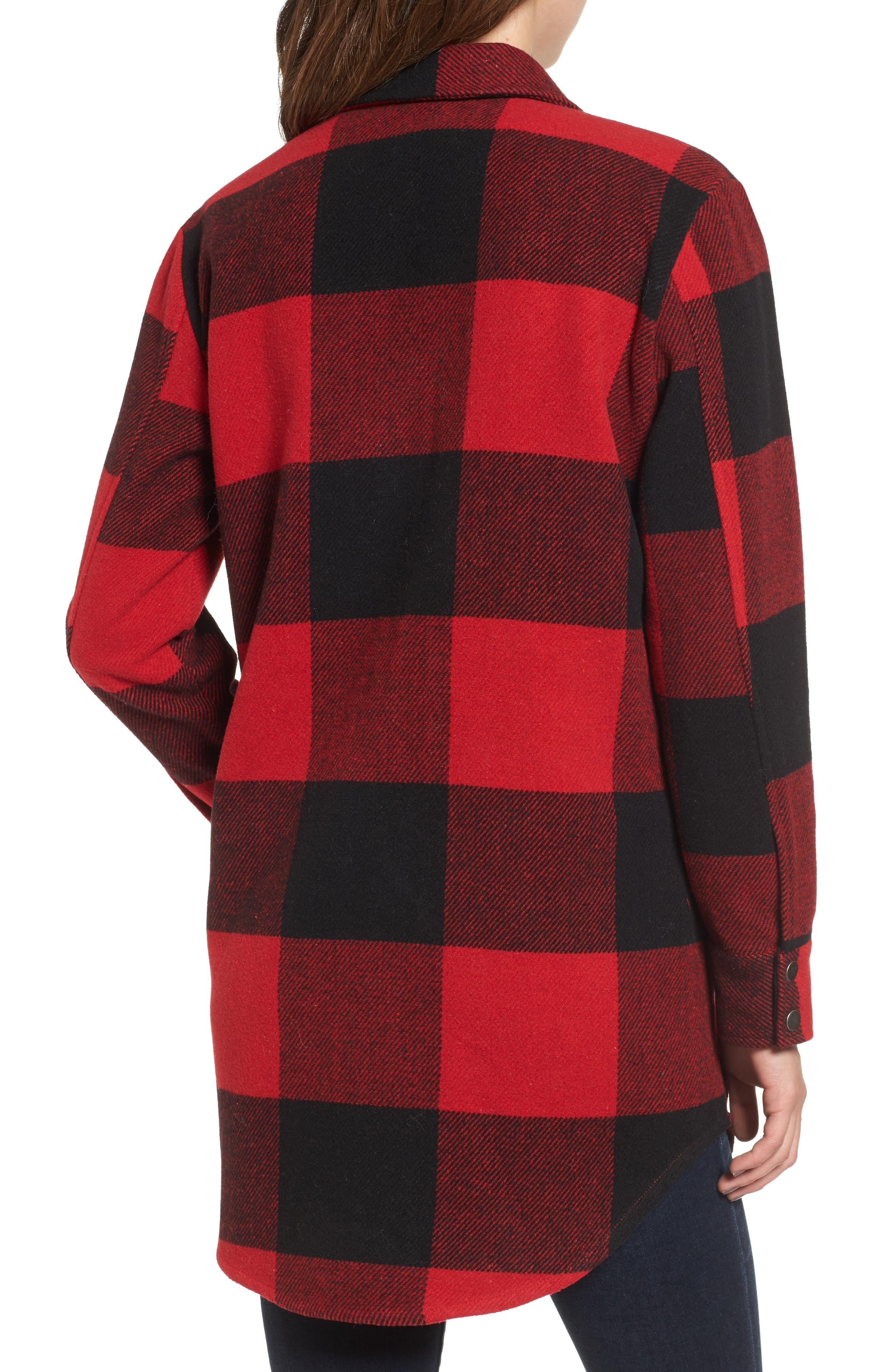 Alternate Image 2  - BB Dakota Eldridge Oversize Buffalo Check Shirt Jacket