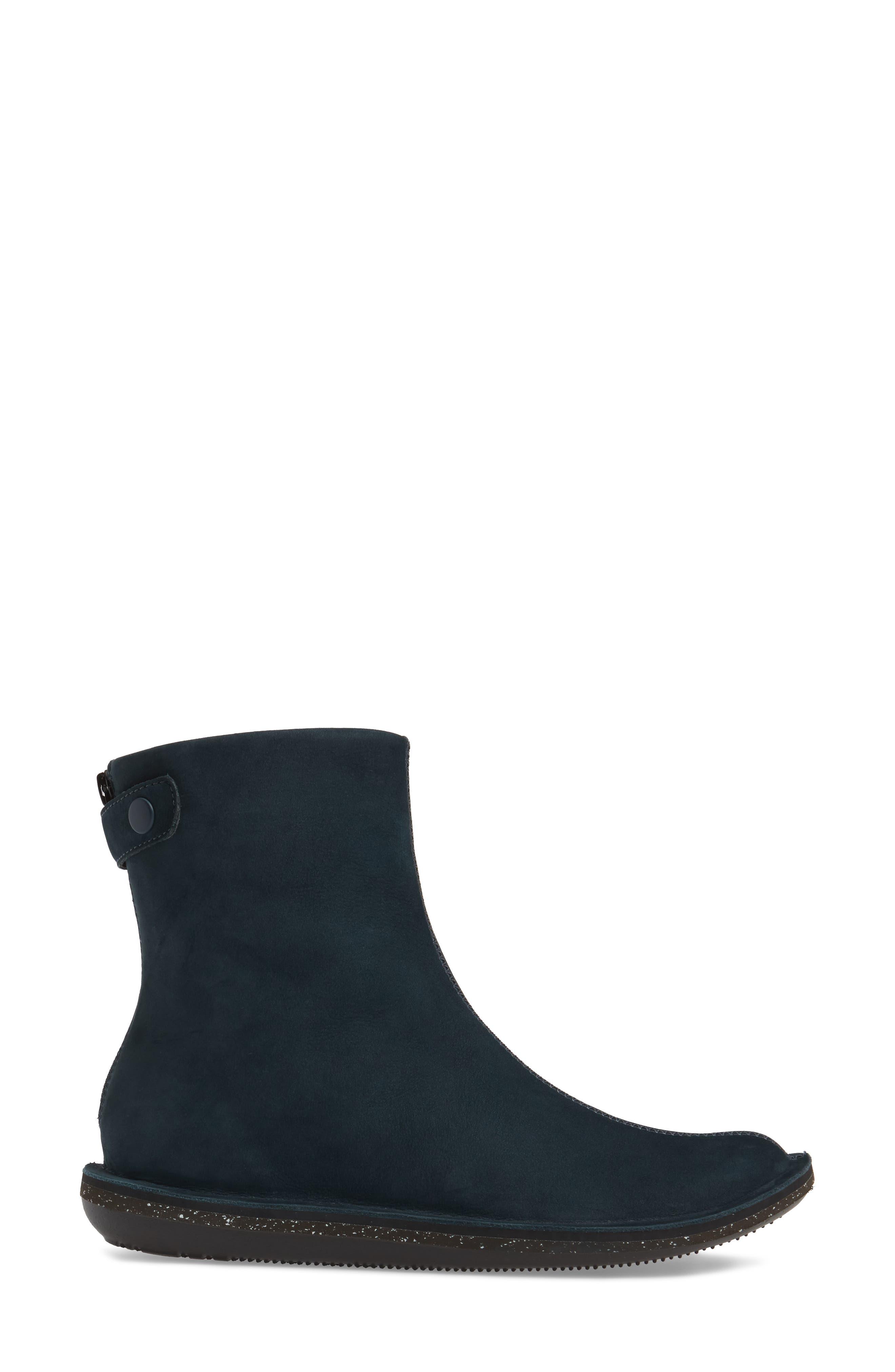 'Beetle Mid' Boot,                             Alternate thumbnail 3, color,                             Dark Blue Leather