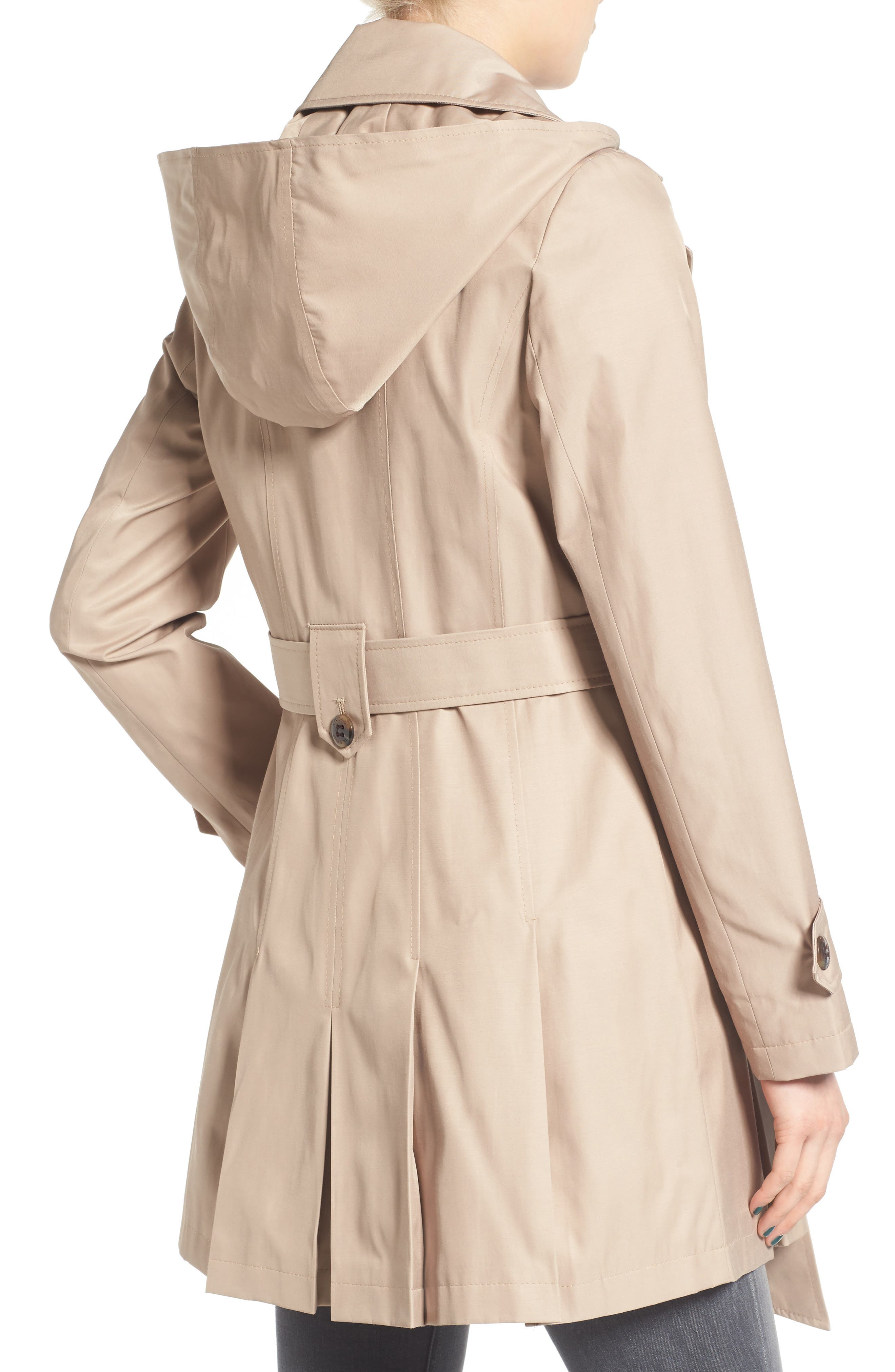 'Scarpa' Hooded Single Breasted Trench Coat,                             Alternate thumbnail 2, color,                             Sand