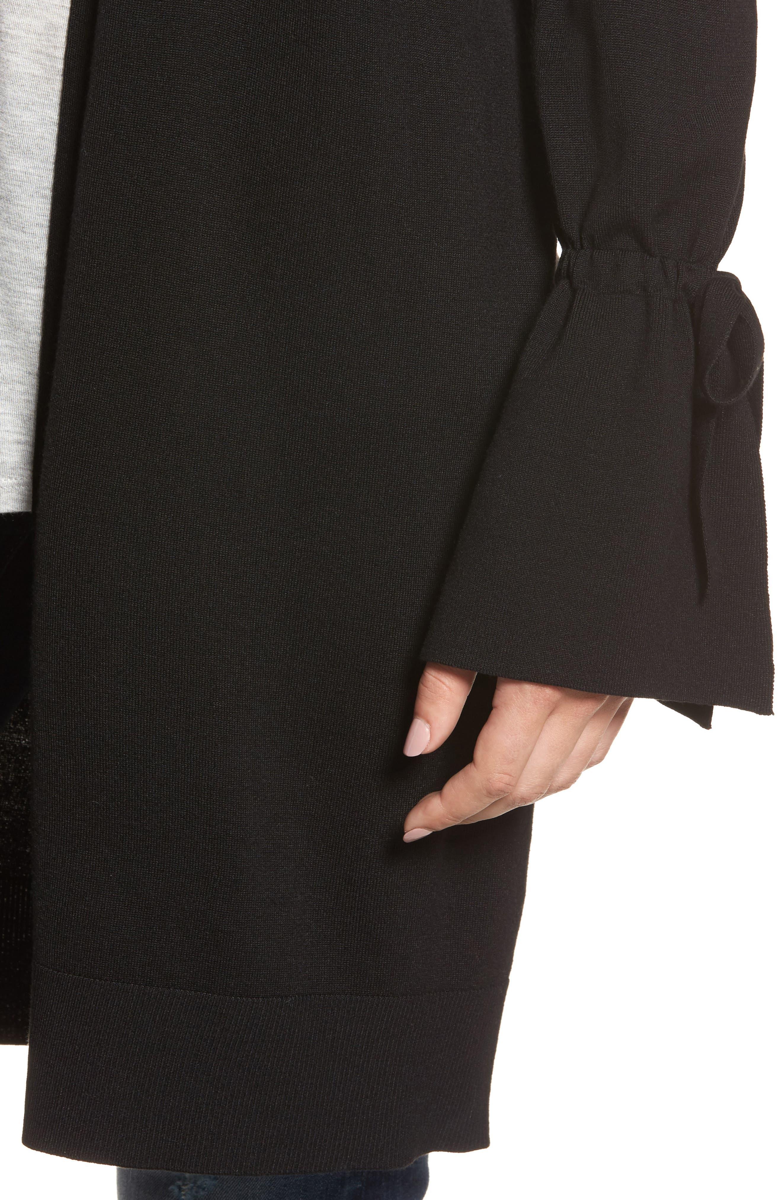 Alternate Image 4  - Halogen® Lightweight Tie Sleeve Cardigan (Regular & Petite)