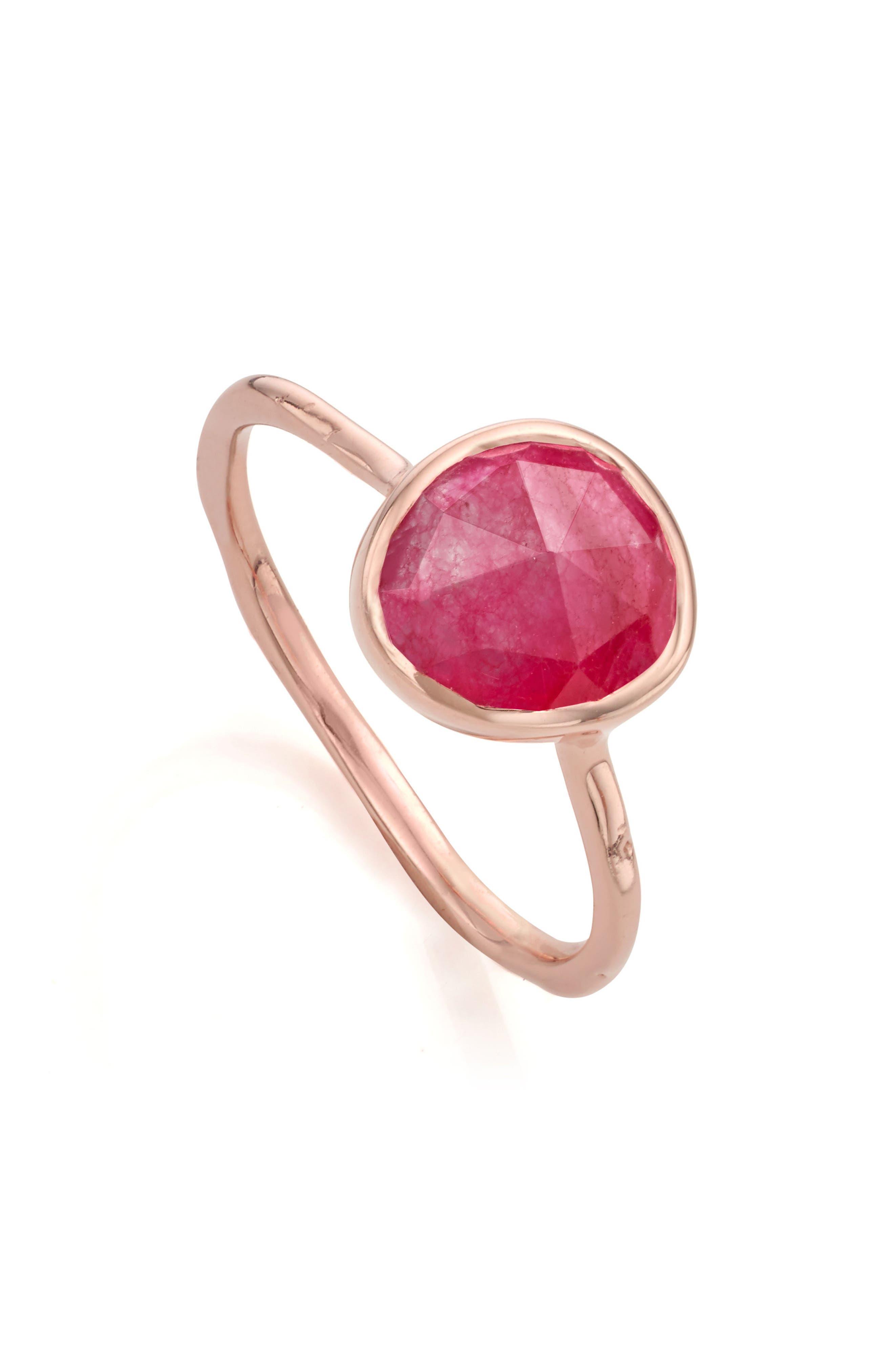 Alternate Image 4  - Monica Vinader Siren Semiprecious Stone Stacking Ring